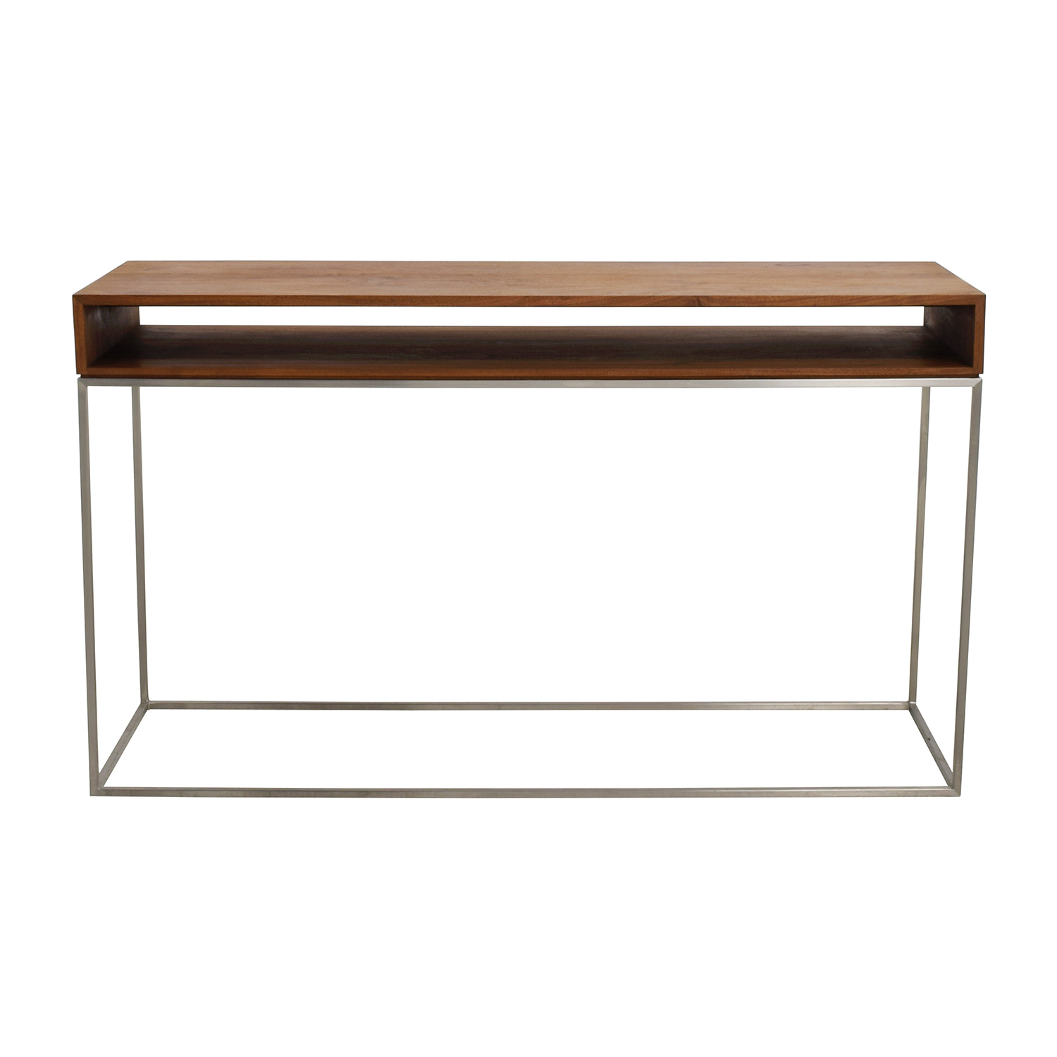 70% Off   Cb2 Cb2 Wood And Metal Frame Console Table / Tables Inside Frame Console Tables (Photo 2 of 30)