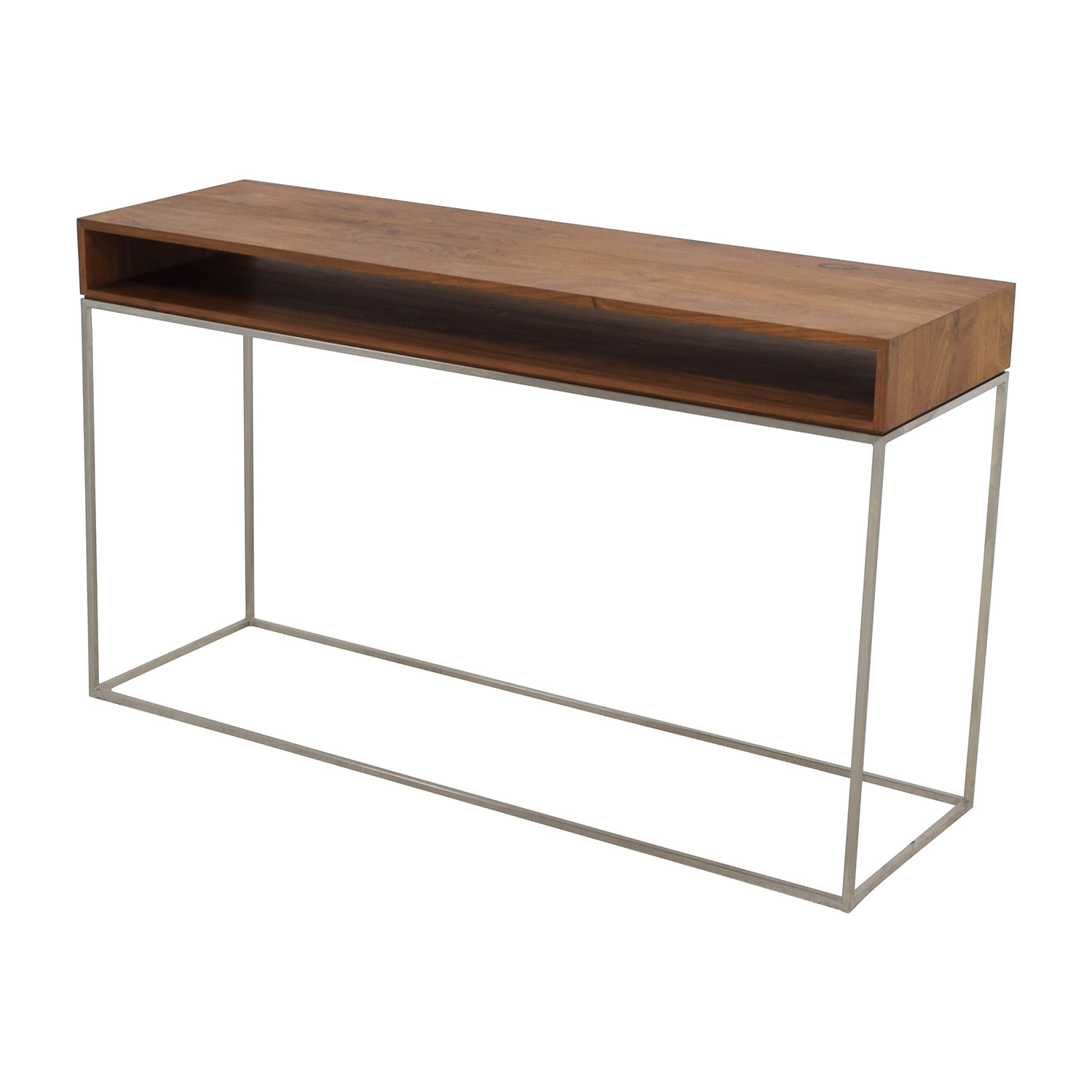 70 Off Cb2 Cb2 Wood And Metal Frame Console Table Tables Tall Narrow Pertaining To Frame Console Tables (Photo 12 of 30)