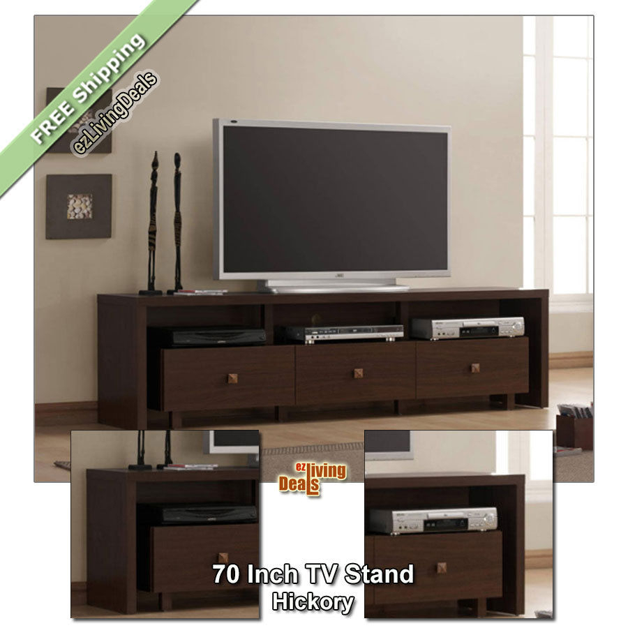 70Quot Tv Stand Entertainment Media Console Table Stands For Black Inside Annabelle Black 70 Inch Tv Stands (Photo 13 of 30)