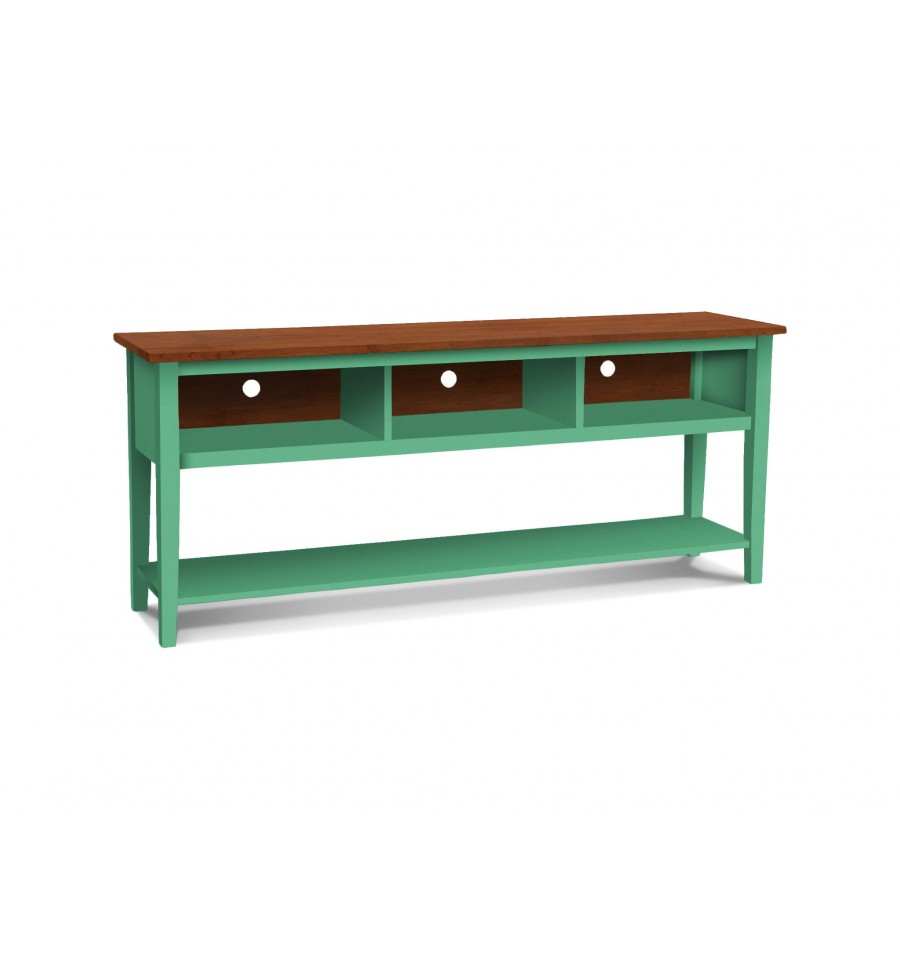 72 Inch] Shaker Open Tv Console - Simply Woods Furniture | Pensacola, Fl intended for Murphy 72 Inch Tv Stands (Image 4 of 30)