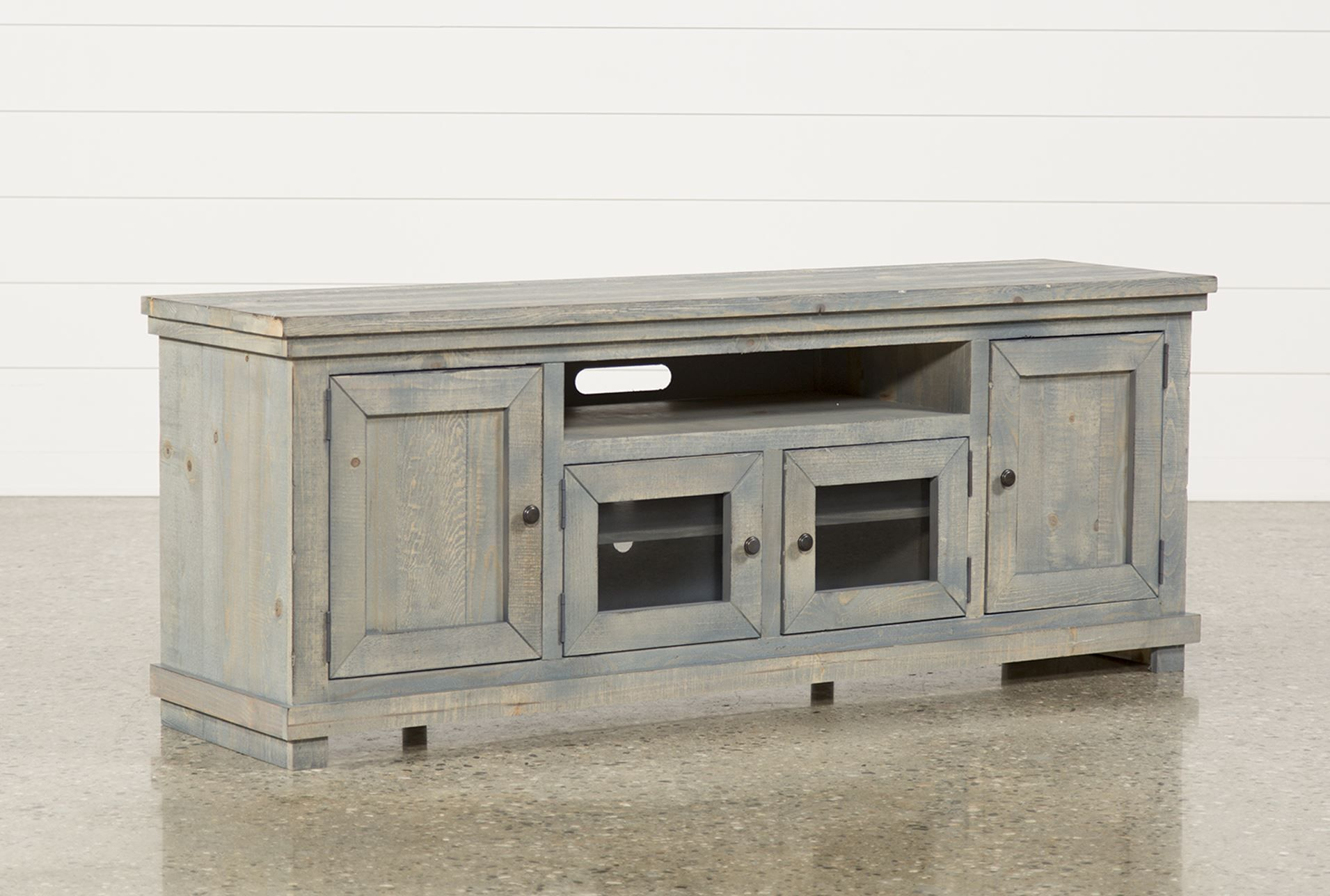 74 Inch Tv Stand, Sinclair Blue | Tv Stands, Consoles And Living For Ducar 74 Inch Tv Stands (Photo 5 of 30)