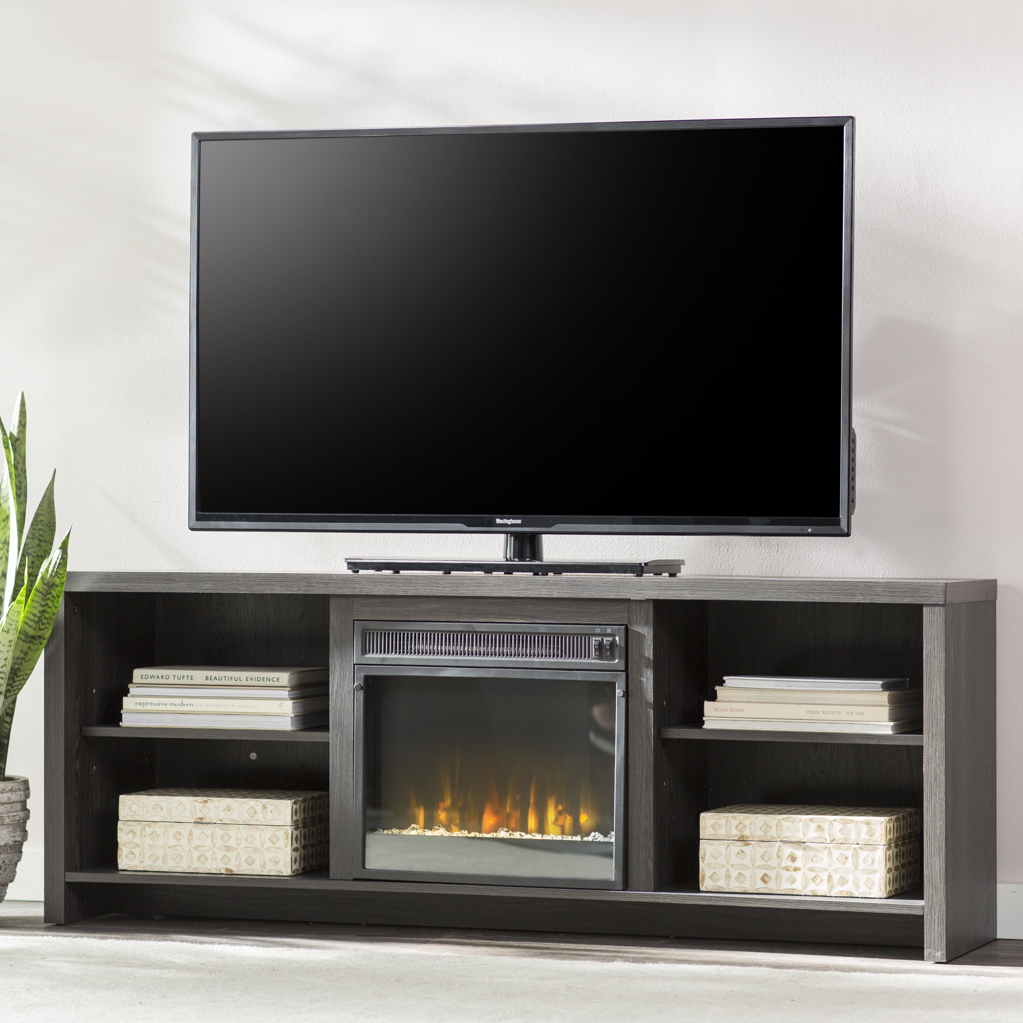 75 Inch Tv Stand | Wayfair Intended For Laurent 60 Inch Tv Stands (Photo 12 of 30)