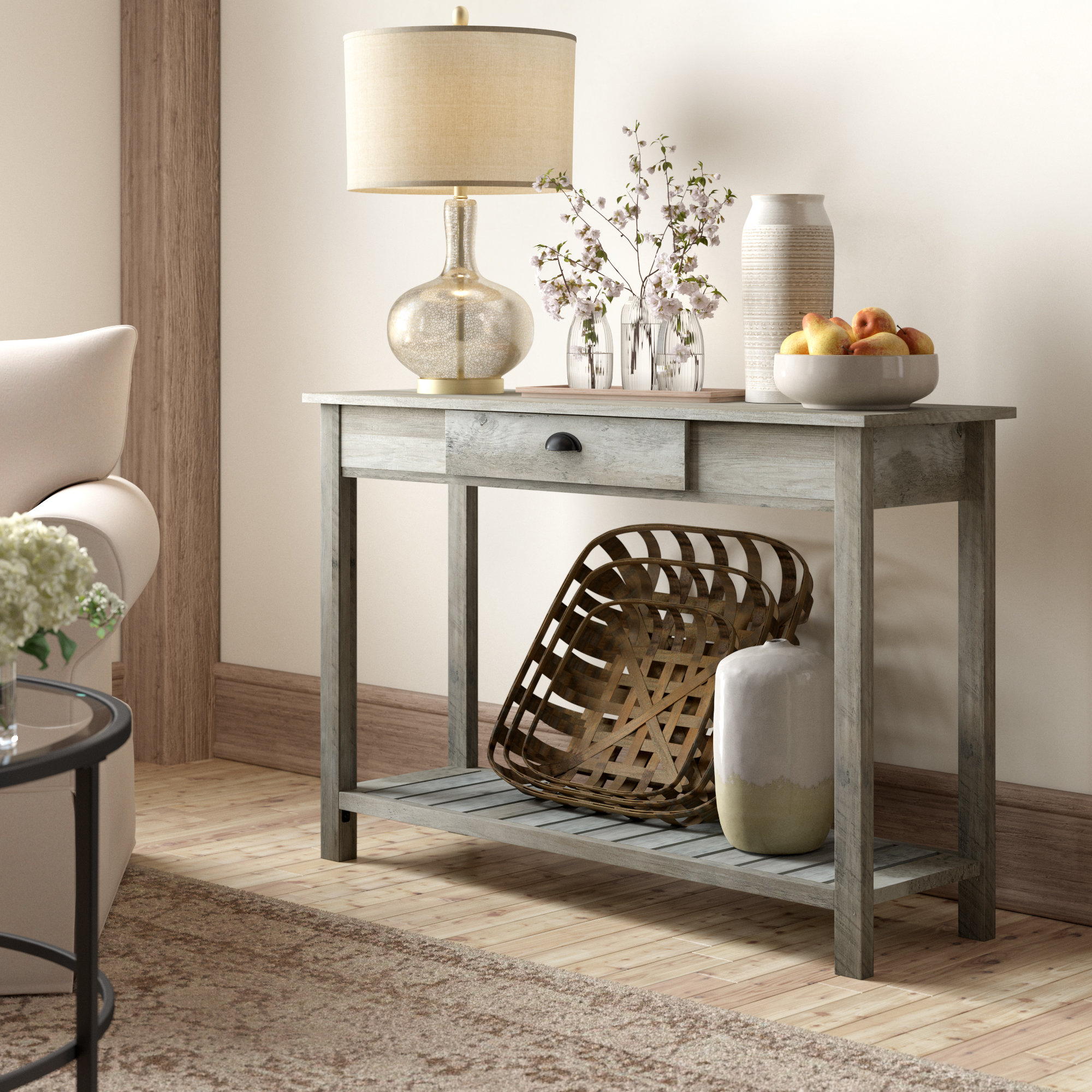 8 Inch Deep Console Table | Wayfair pertaining to Oscar 60 Inch Console Tables (Image 1 of 30)