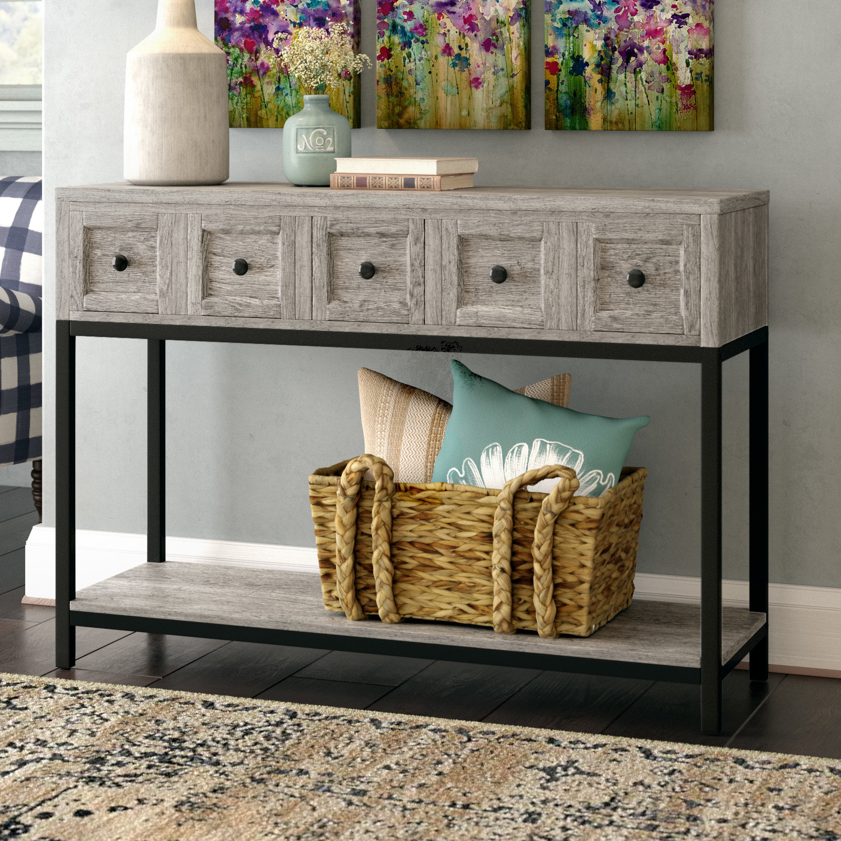 8 Inch Deep Console Table | Wayfair With Regard To Oscar 60 Inch Console Tables (View 6 of 30)