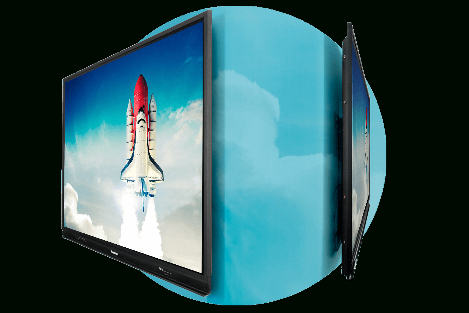 Activpanel Stands - Interactive Flat Panel Displays   Promethean regarding Noah Aged Whiskey 66 Inch Tv Stands (Image 3 of 30)