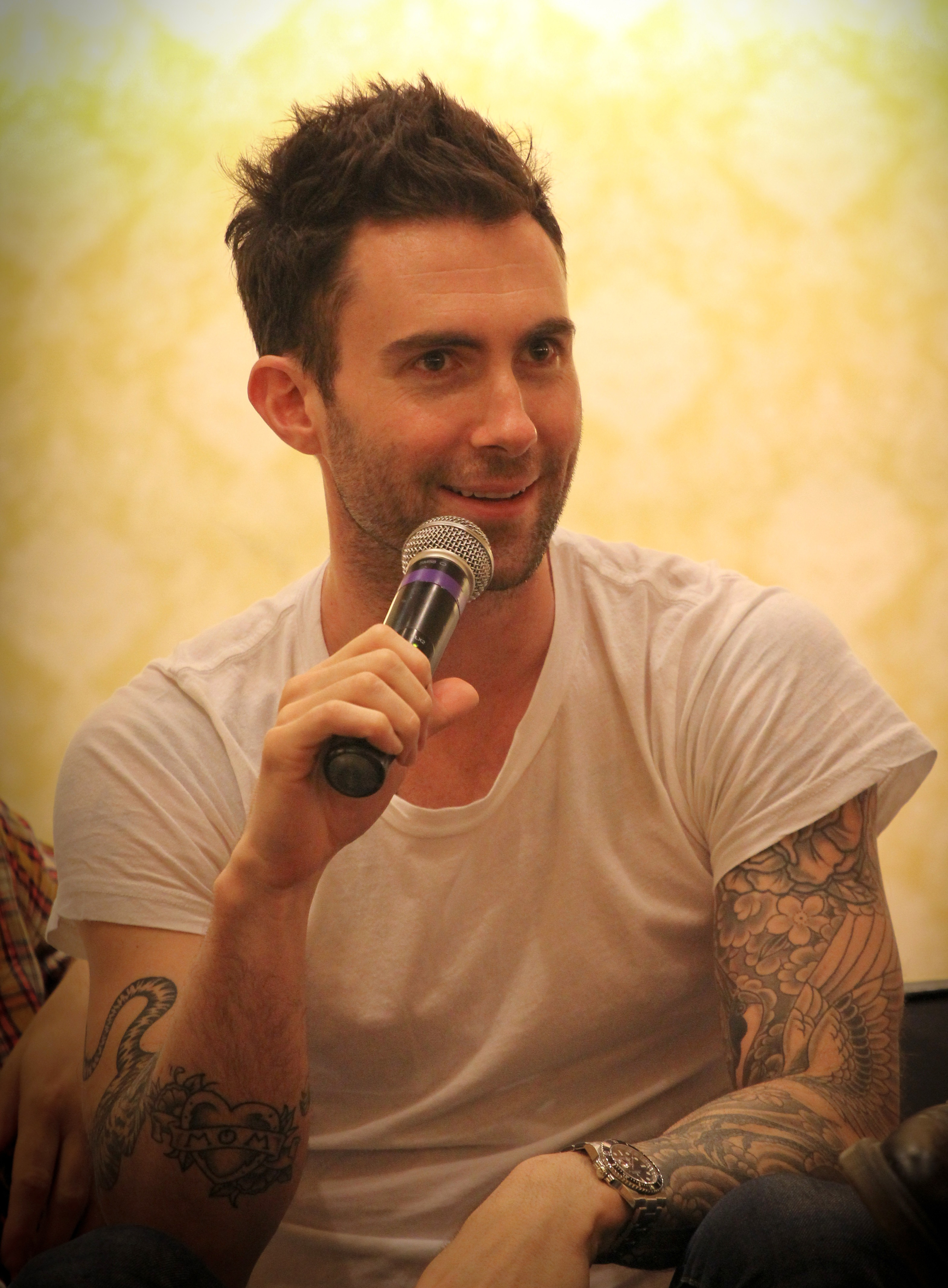 Adam Levine - Wikipedia with Noah Aged Whiskey 66 Inch Tv Stands (Image 4 of 30)