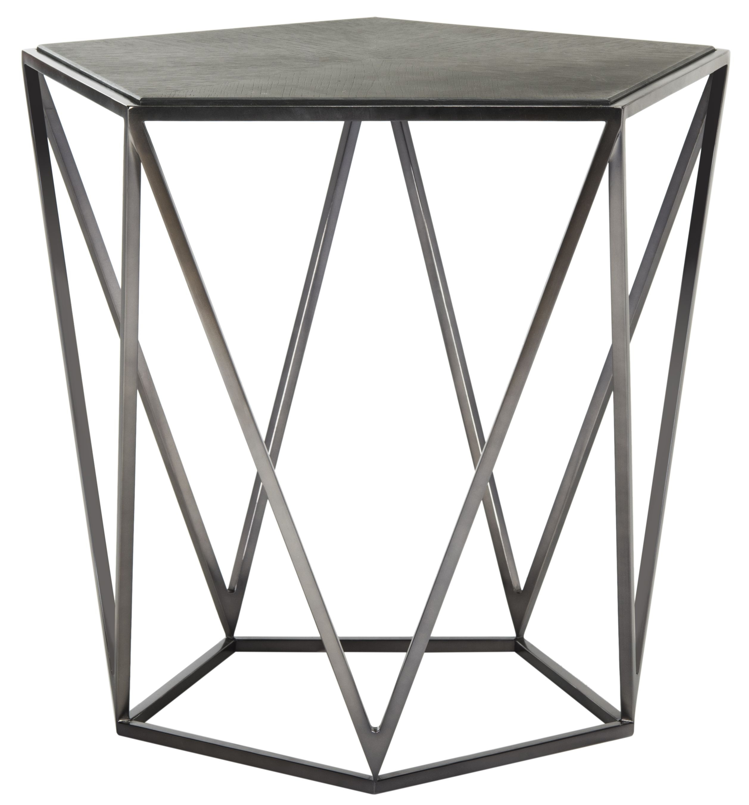 Alba Geometric Side Table – Safavieh | Caledonia Nightstands Regarding Elke Marble Console Tables With Polished Aluminum Base (View 24 of 30)