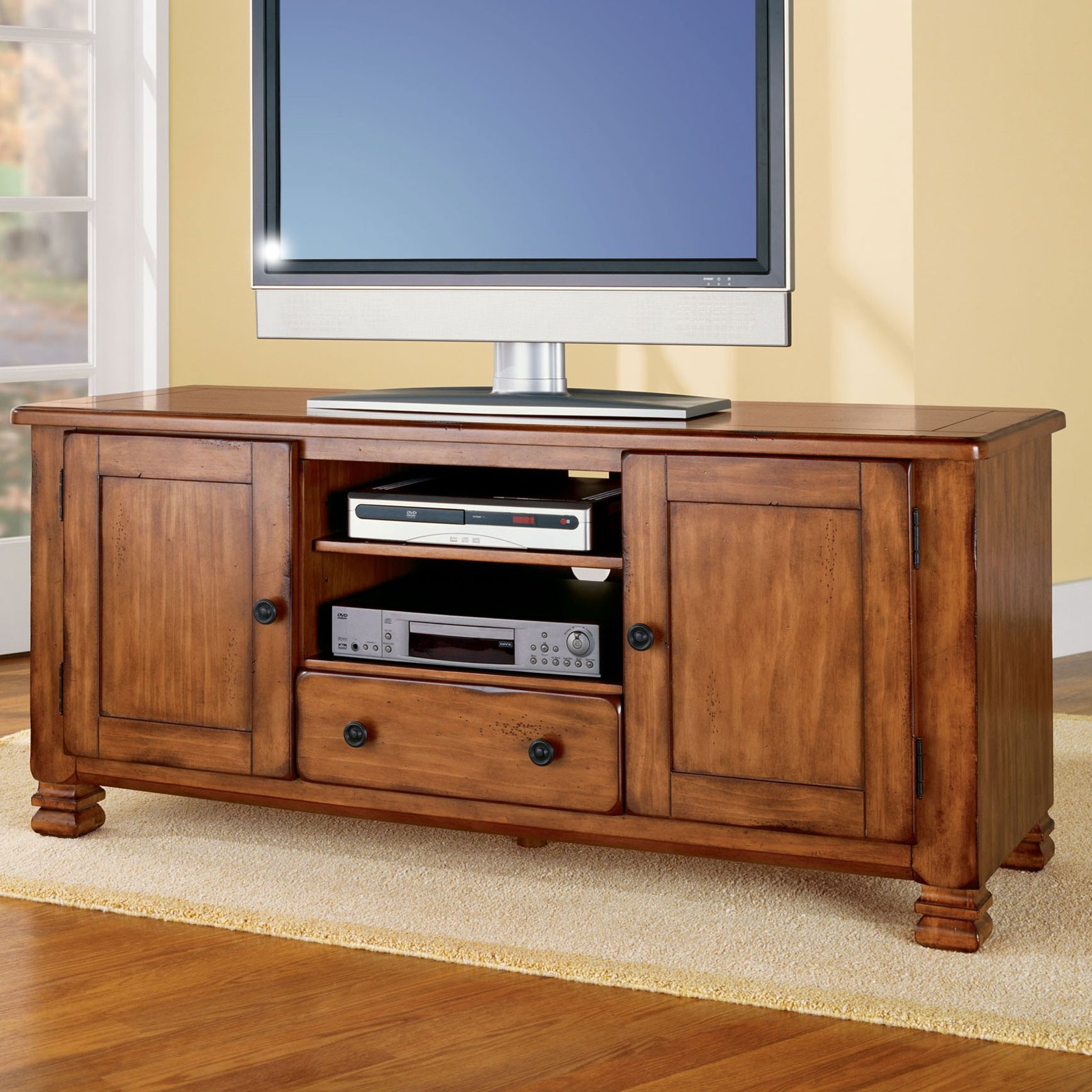 """Alcott Hill Brackenridge Tv Stand For Tvs Up To 55"""" & Reviews   Wayfair Pertaining To Laurent 50 Inch Tv Stands (View 6 of 30)"""