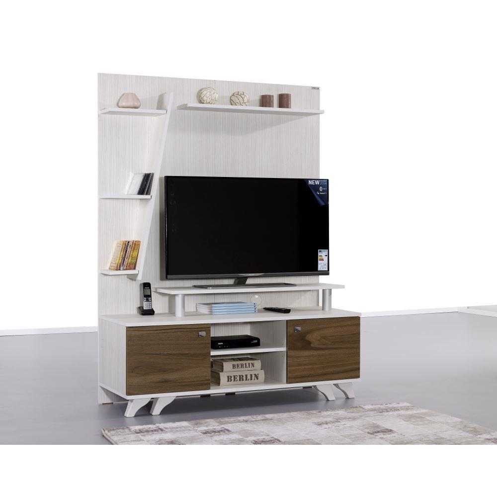 Alpino Star Duvar Standı Tv Ünitesi Bianco Venezia | Tekzen With Regard To Ducar 64 Inch Tv Stands (View 15 of 30)
