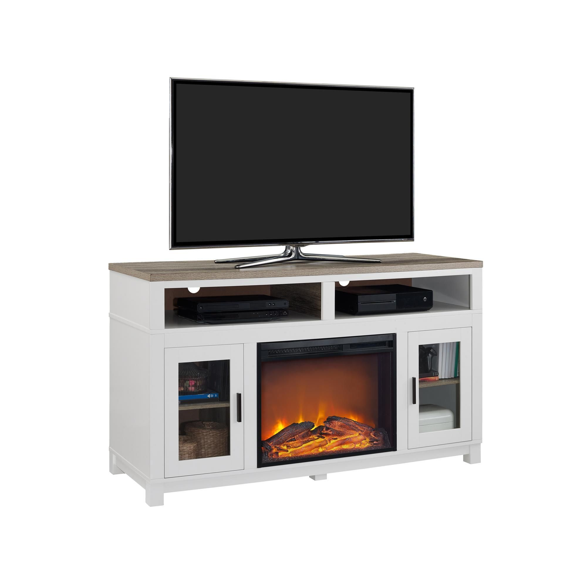 Ameriwood Home Carver Electric Fireplace Tv Stand For Tvs Up To 60 intended for Oxford 60 Inch Tv Stands (Image 1 of 30)