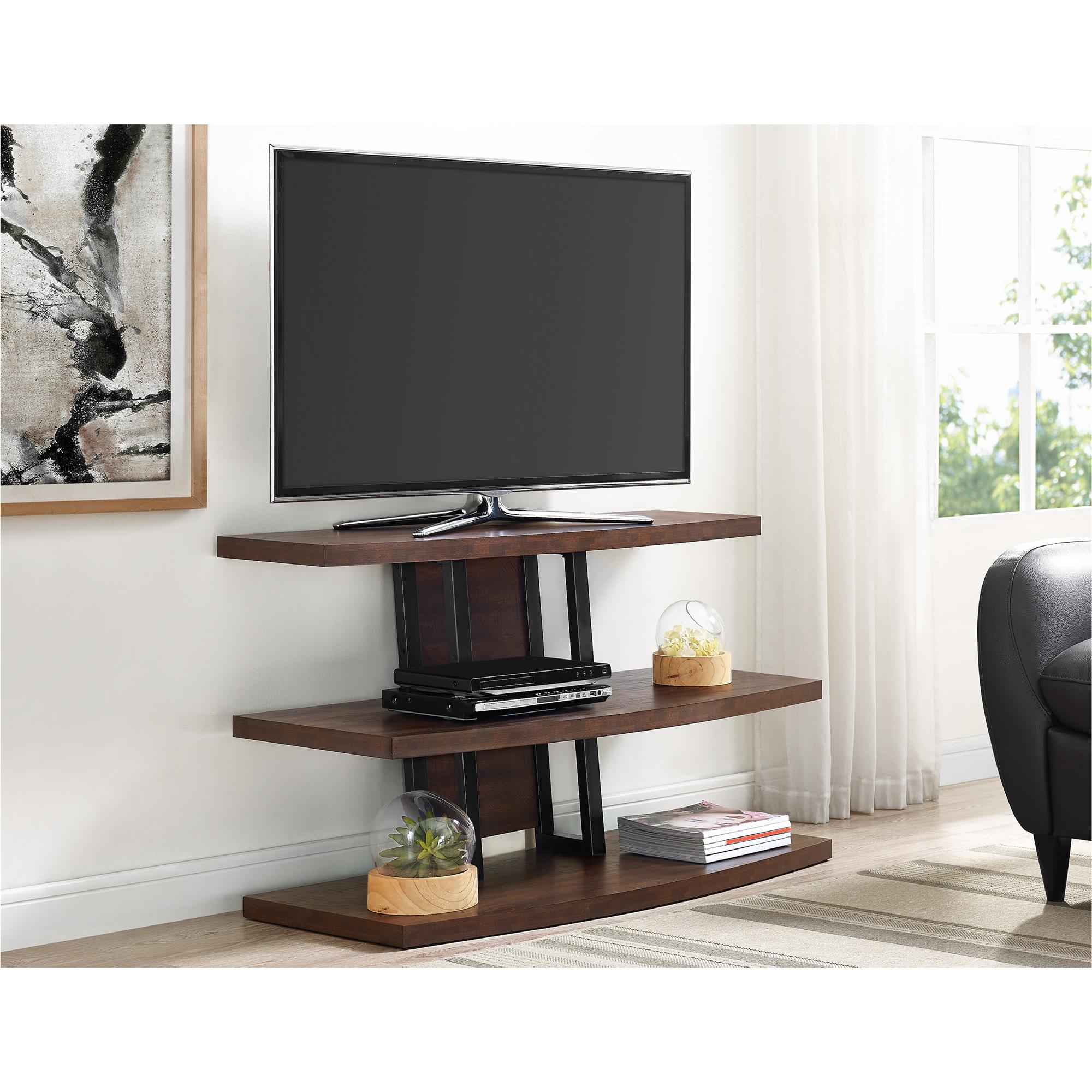 """Ameriwood Home Castling Tv Stand For Tvs Up To 55"""", Espresso With Forma 65 Inch Tv Stands (View 7 of 30)"""