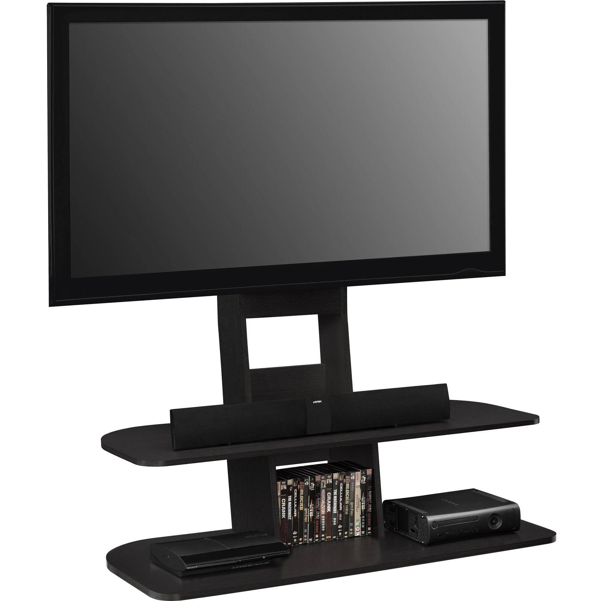 "Ameriwood Home Galaxy Tv Stand With Mount For Tvs Up To 65"" Wide Within Vista 60 Inch Tv Stands (View 3 of 30)"