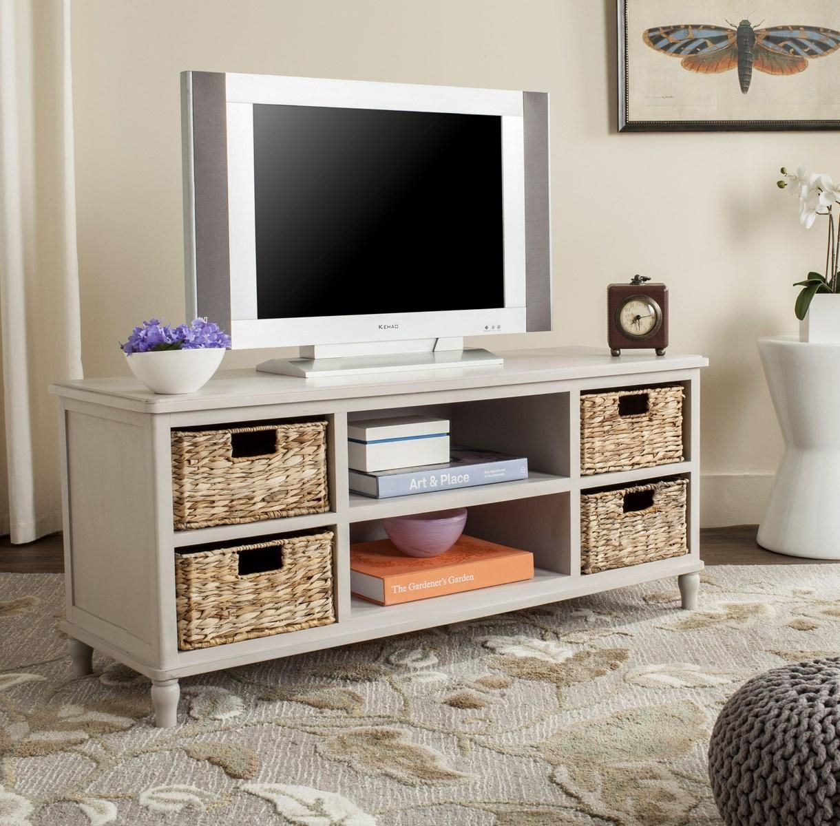 Amh5745D Tv Cabinet - Furniturein 2018 | Int Design Class pertaining to Natural Cane Media Console Tables (Image 4 of 30)