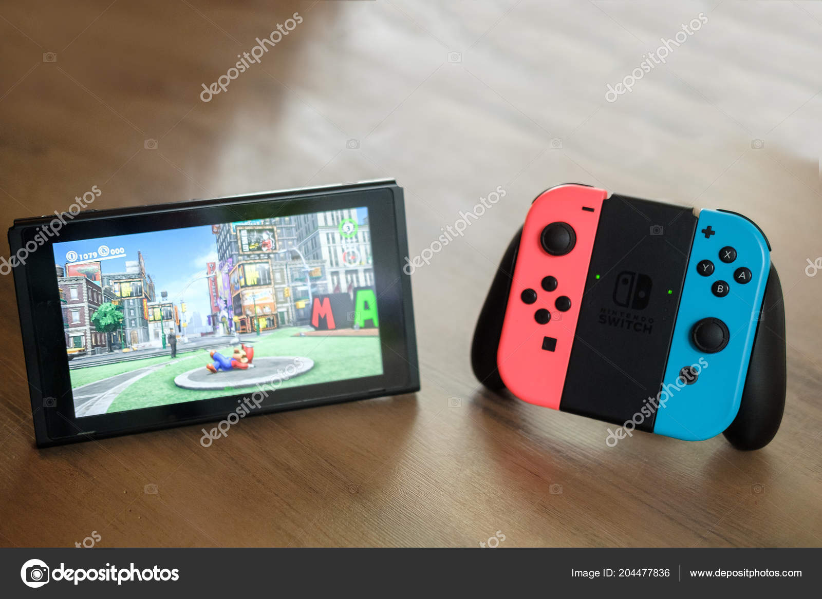 Anapa Russian Federation July 2018 Joy Con Controllers Console pertaining to Switch Console Tables (Image 1 of 30)