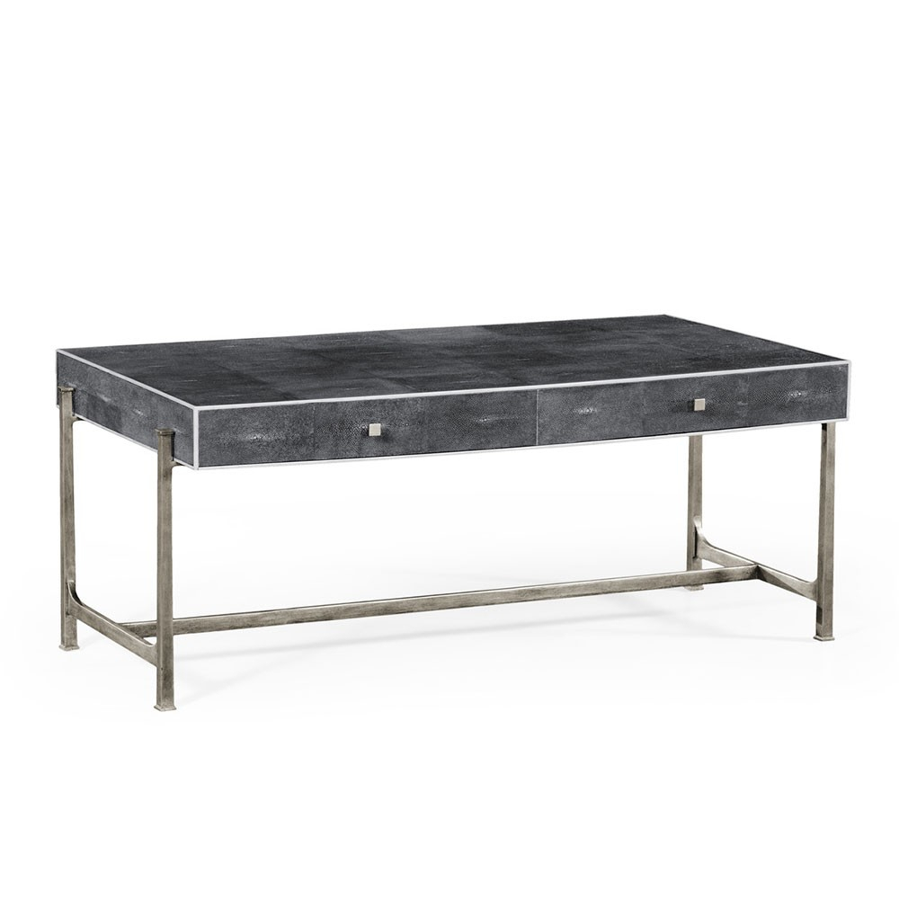 Anthracite Shagreen Coffee Table In Grey Shagreen Media Console Tables (View 2 of 30)