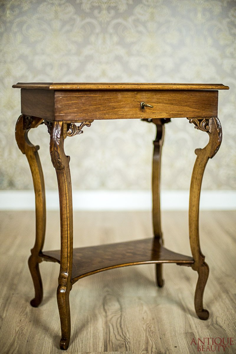 Antique Beauty – Oak Sewing Table, Circa 1900 With Regard To Intarsia Console Tables (View 5 of 30)