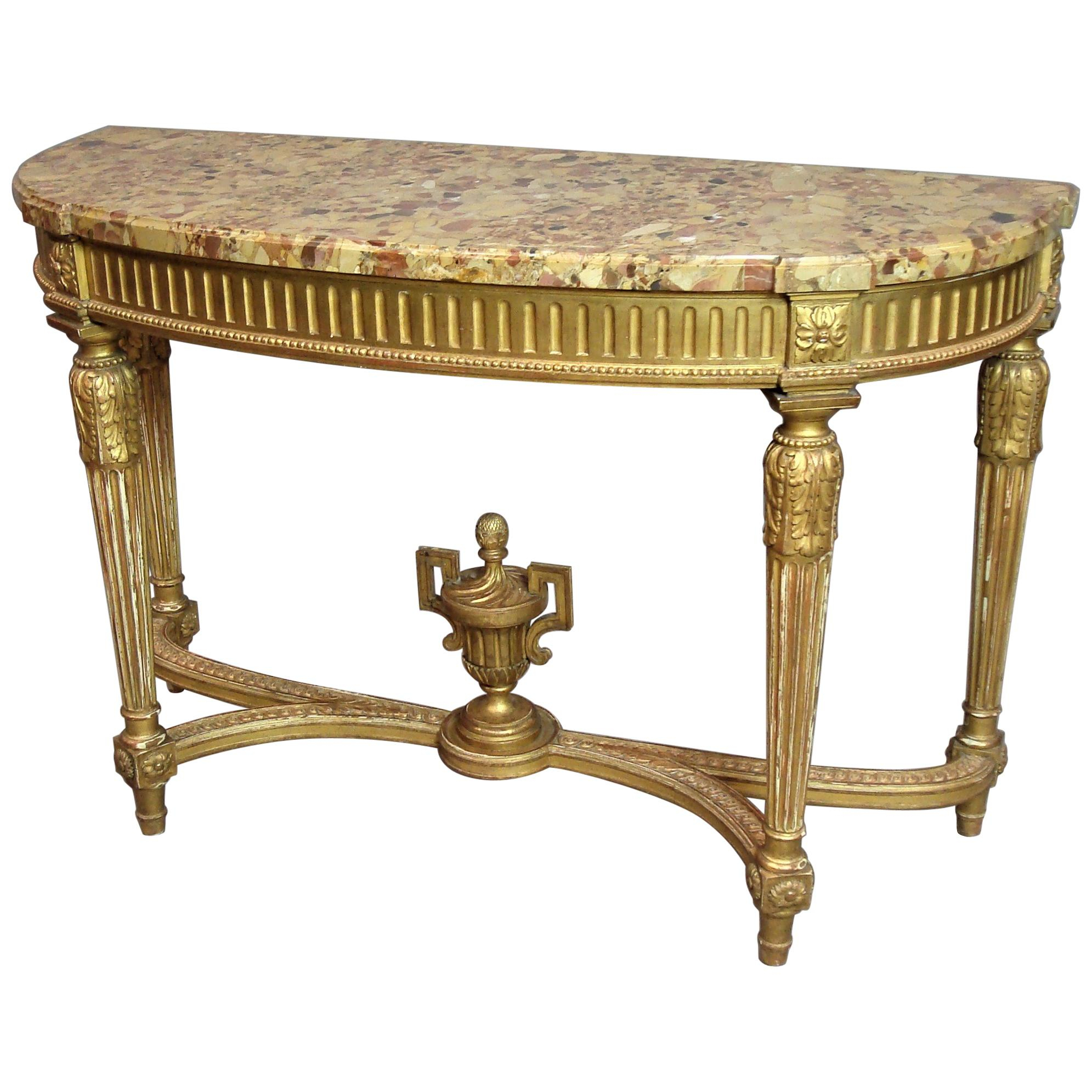 Antique Console Tables For Sale In Europe - 1Stdibs inside Mix Agate Metal Frame Console Tables (Image 3 of 30)