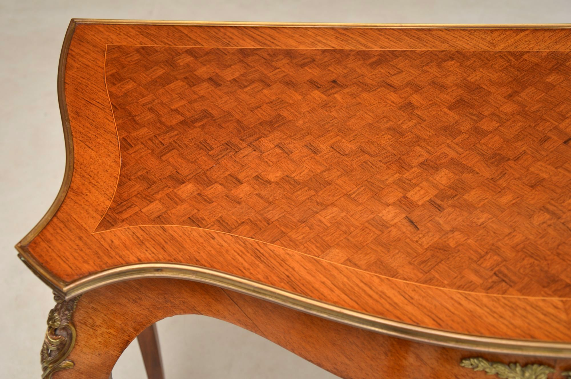 Antique French Inlaid Parquetry Console Table | Marylebone Antiques Within Orange Inlay Console Tables (View 6 of 30)