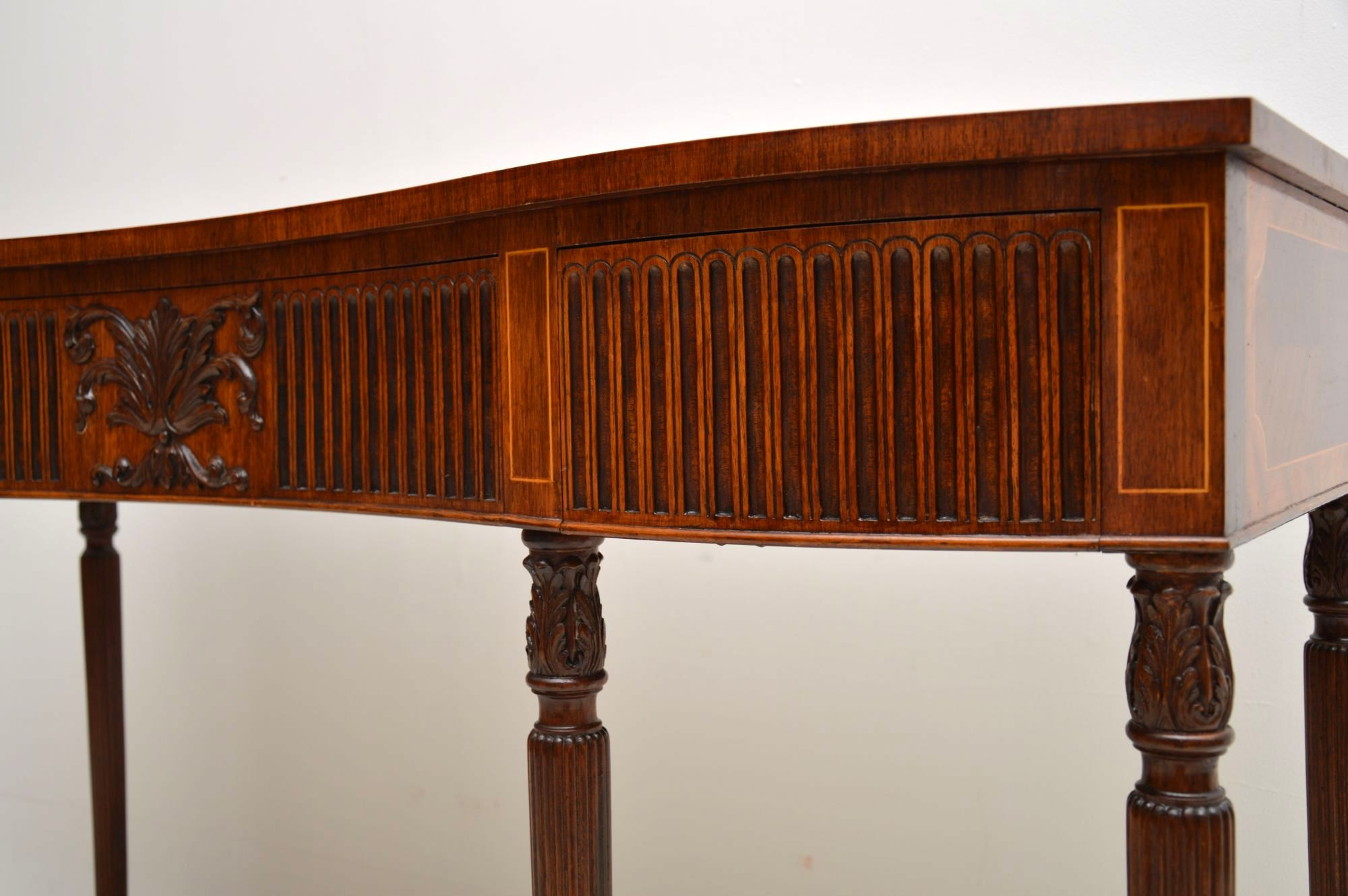 Antique Inlaid Mahogany & Kingwood Server Console Table | Marylebone With Orange Inlay Console Tables (View 7 of 30)