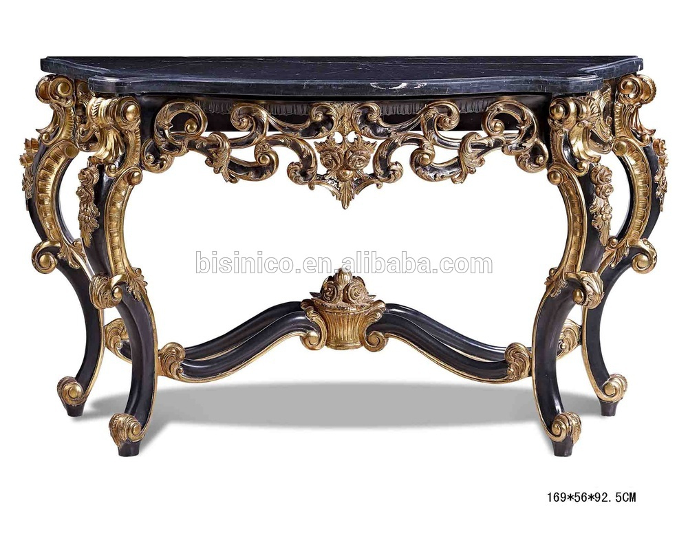 Antique Luxury Console Table Console Hall Foyer Table 2 Shelf Regarding Hand Carved White Wash Console Tables (View 11 of 30)