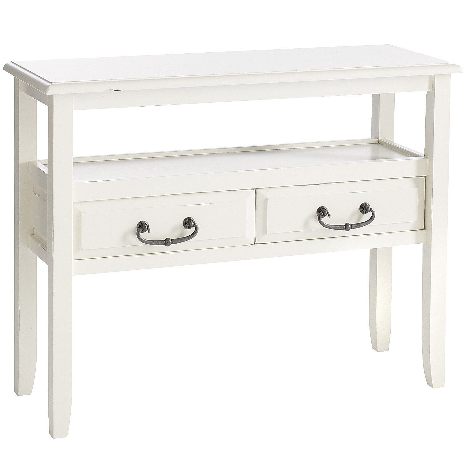 Anywhere Antique White Console Table With Pull Handles | Home Sweet intended for Switch Console Tables (Image 2 of 30)