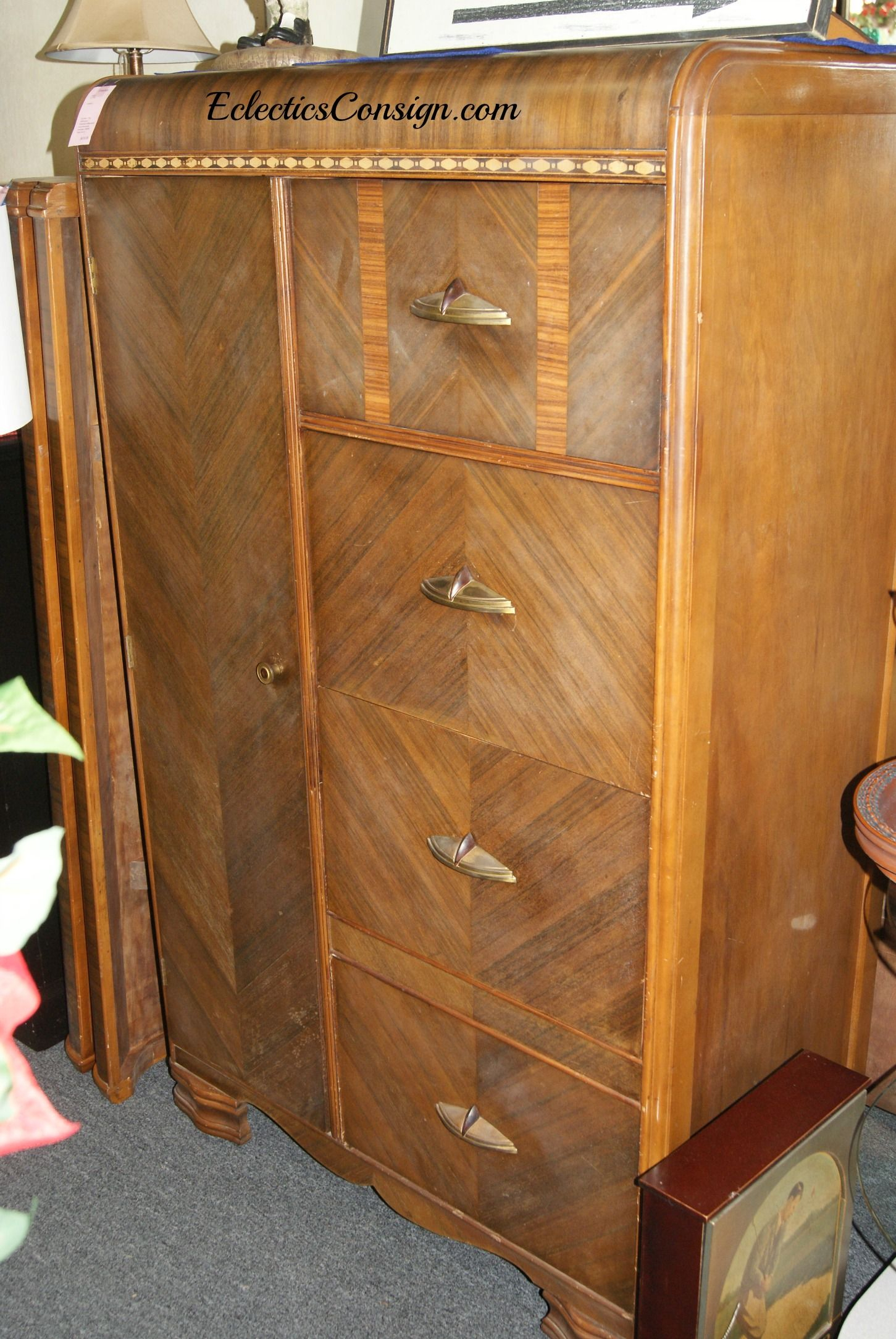 Art Deco Chifferobe | Bedroom Spaces | Pinterest | Furniture In Dixon Black 65 Inch Highboy Tv Stands (View 20 of 30)