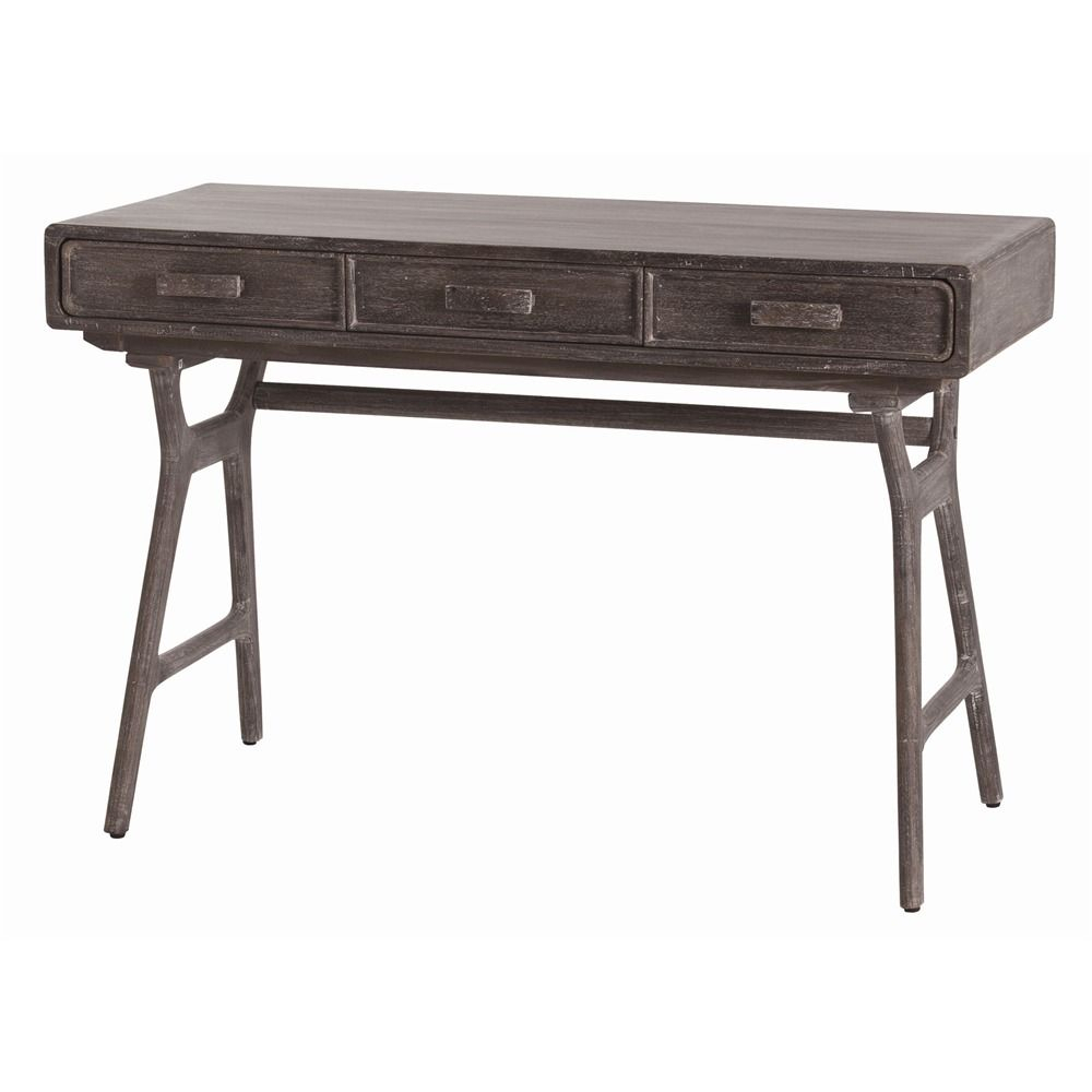 Arteriors 2006 Phillip Desk W 46.5 D 20 H 31 3 Drawer Solid Wood intended for Phillip Brass Console Tables (Image 5 of 30)