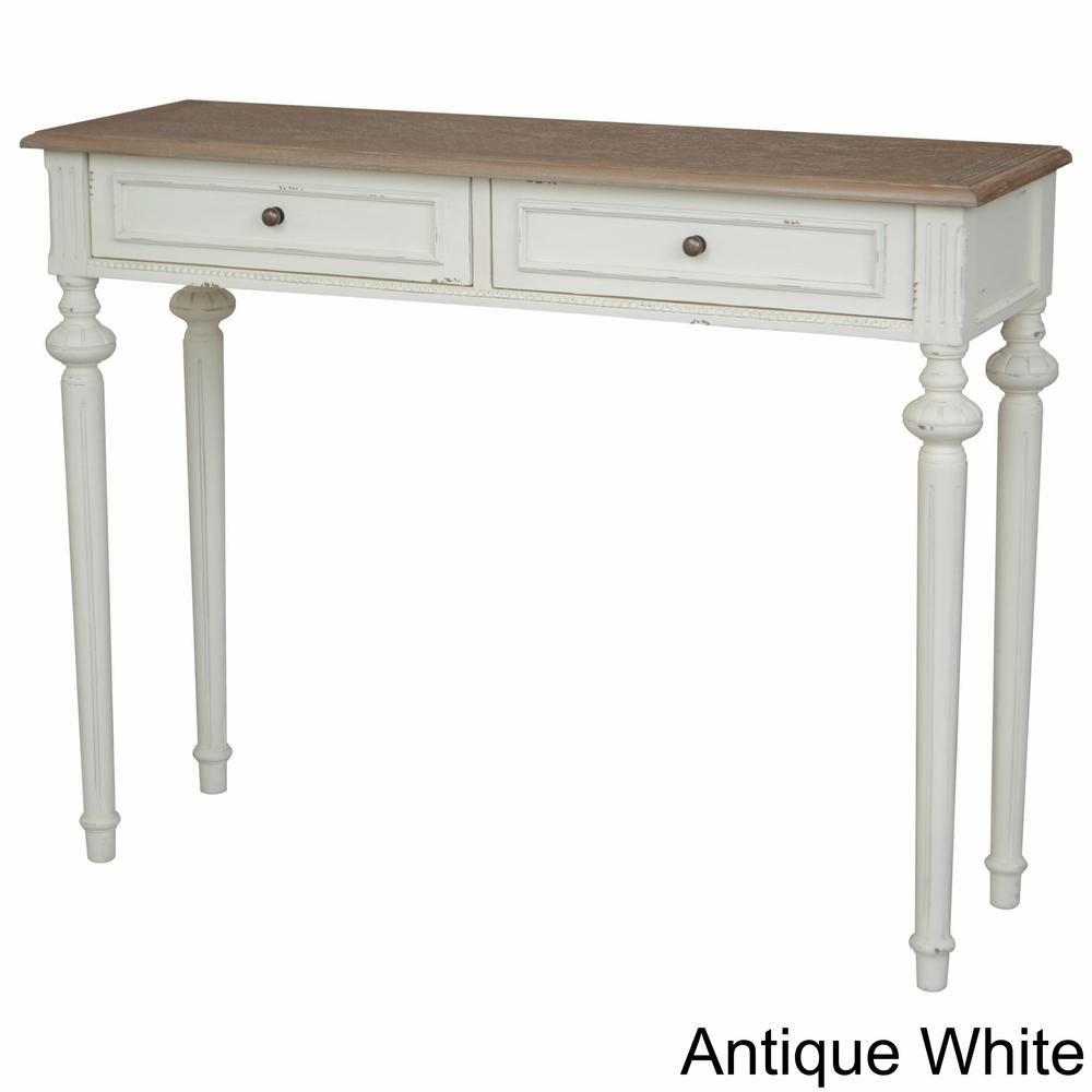 Ashbury Bruges White Washed Natural Oak Veneer And Antique White 1 With Regard To Hand Carved White Wash Console Tables (View 3 of 30)