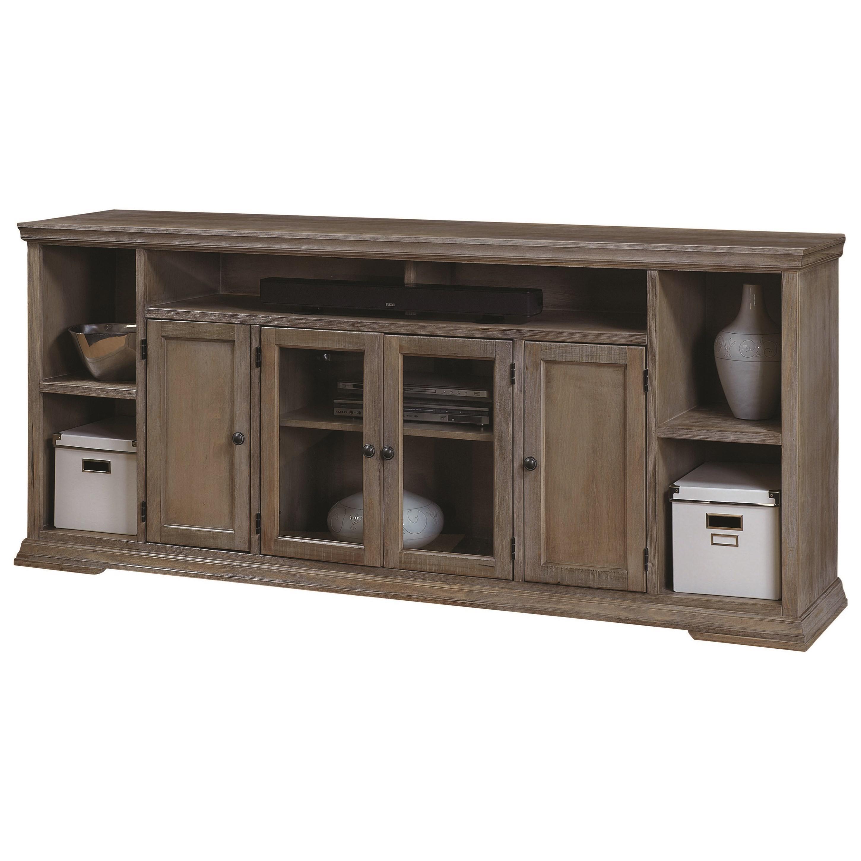 Aspenhome Canyon Creek Wck1036-Drf 84-Inch Tv Console With 4 Doors with Canyon 64 Inch Tv Stands (Image 1 of 30)
