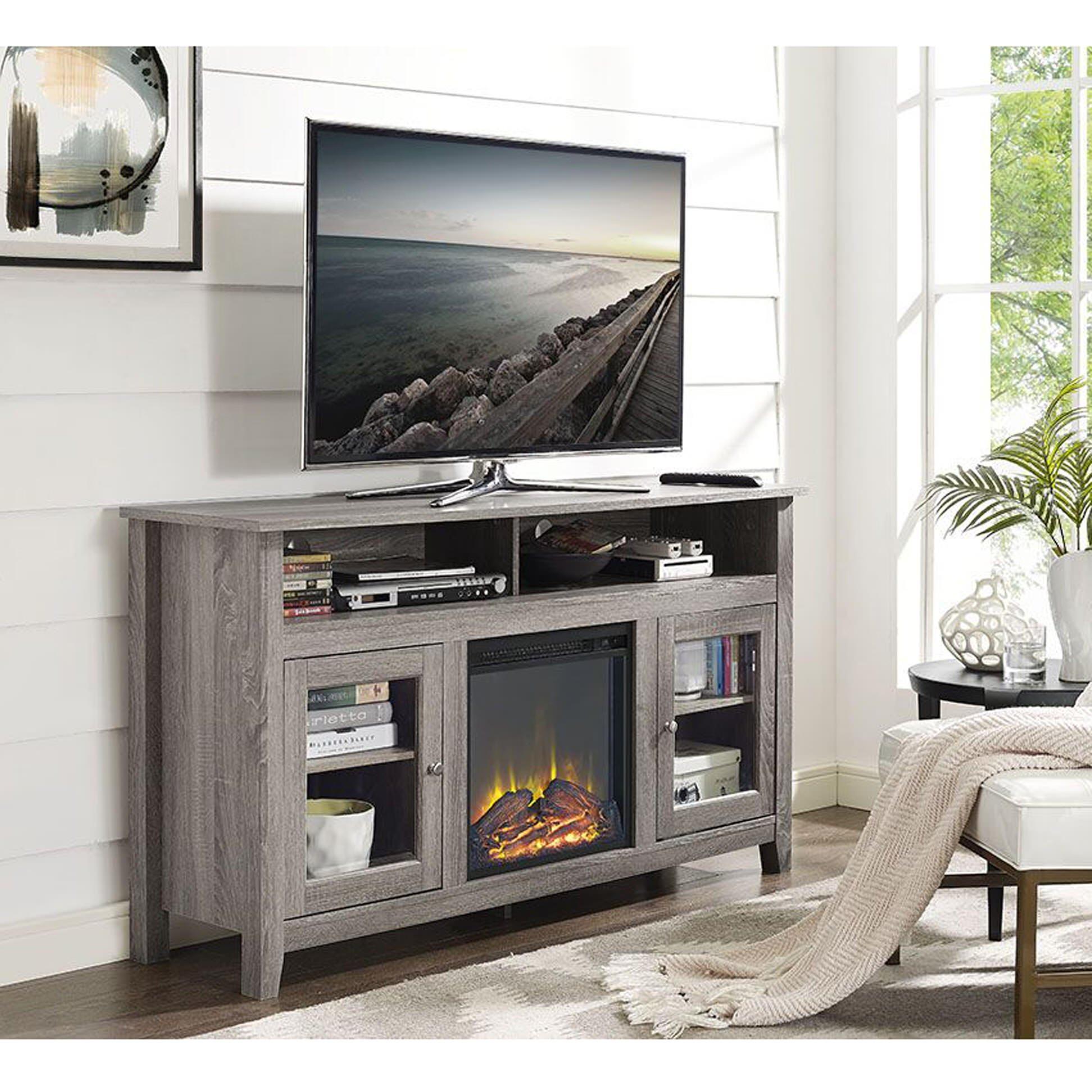 Attractive Reclaimed Media Stand Presearth Driftwood Woodwaves intended for Abbott Driftwood 60 Inch Tv Stands (Image 6 of 30)