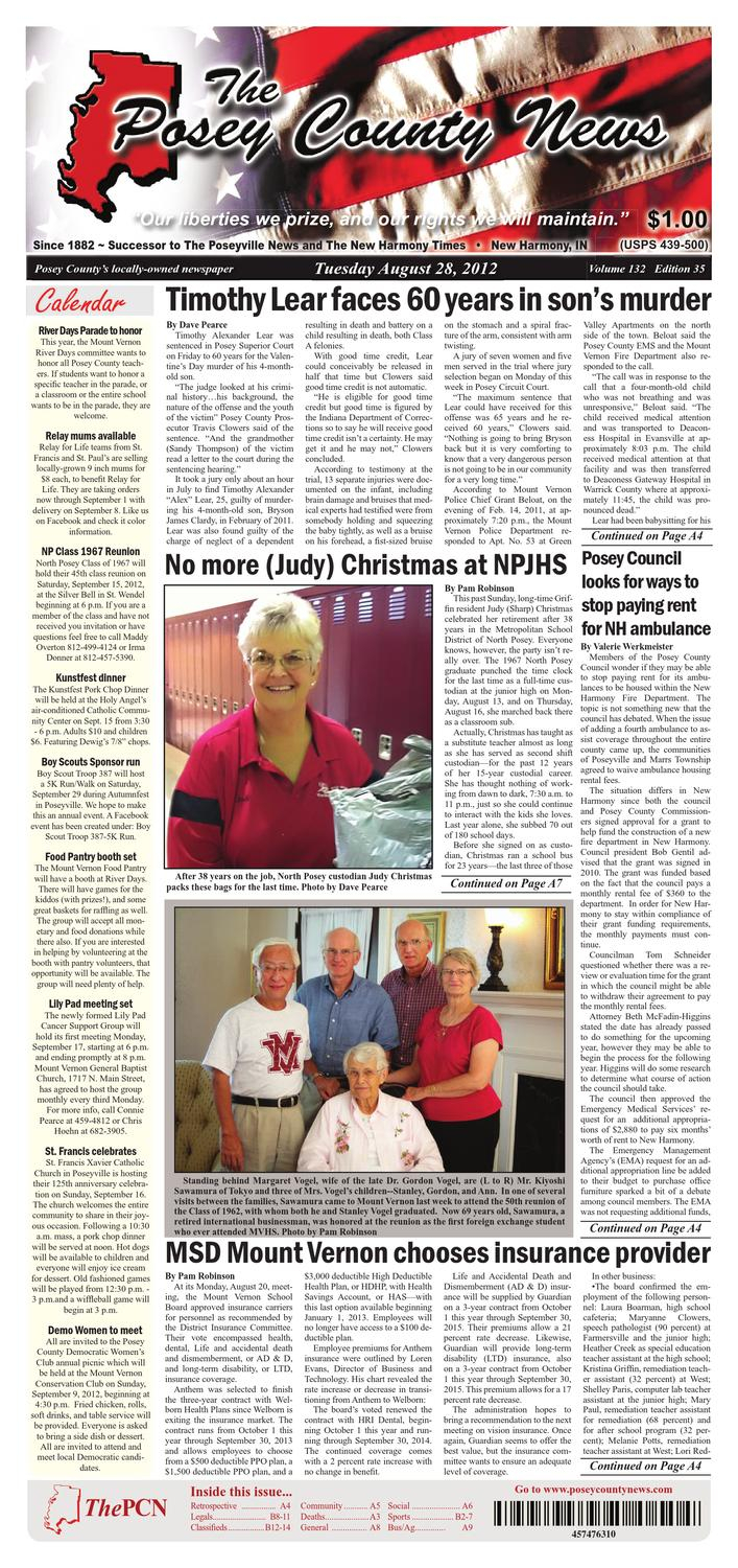 August 28, 2012 - The Posey County Newsthe Posey County News - Issuu regarding Maddy 70 Inch Tv Stands (Image 3 of 30)
