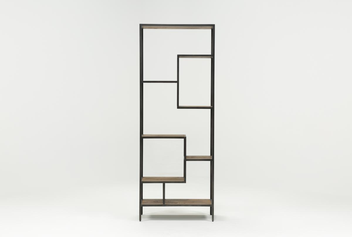 Austin 83 Inch Bookcase | Living Spaces Intended For Jaxon 76 Inch Plasma Console Tables (Image 2 of 30)