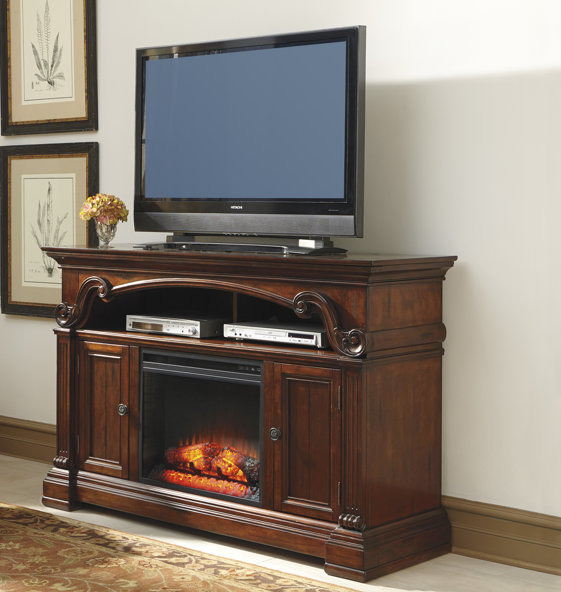 Awesome Tv Console With Fireplace With Additional Dimplex Wyatt for Wyatt 68 Inch Tv Stands (Image 4 of 30)