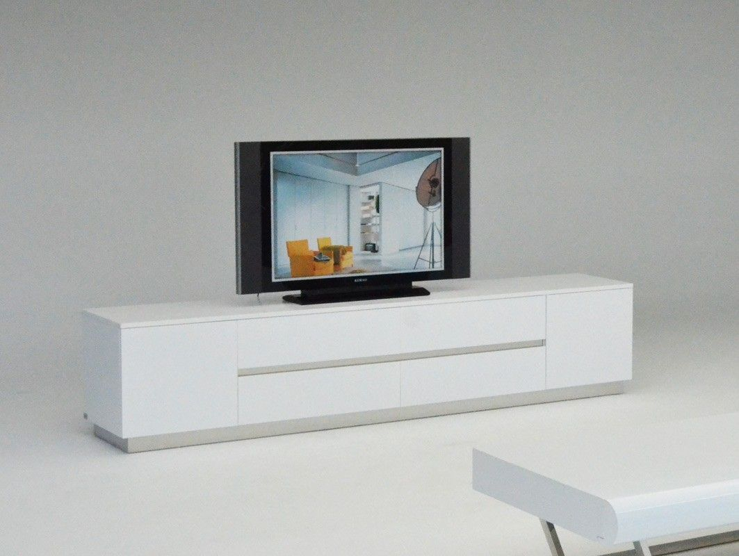 A&x Skyline Modern White Crocodile Tv Entertainment Center | Coffee Intended For Lauderdale 74 Inch Tv Stands (View 9 of 30)