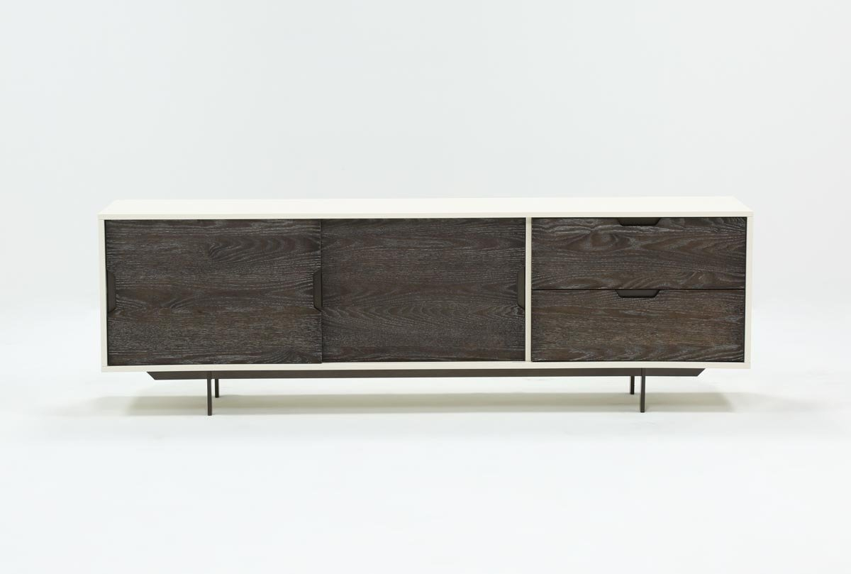 Bale Rustic Grey 82 Inch Tv Stand | Living Spaces With Noah Rustic White 66 Inch Tv Stands (View 6 of 30)
