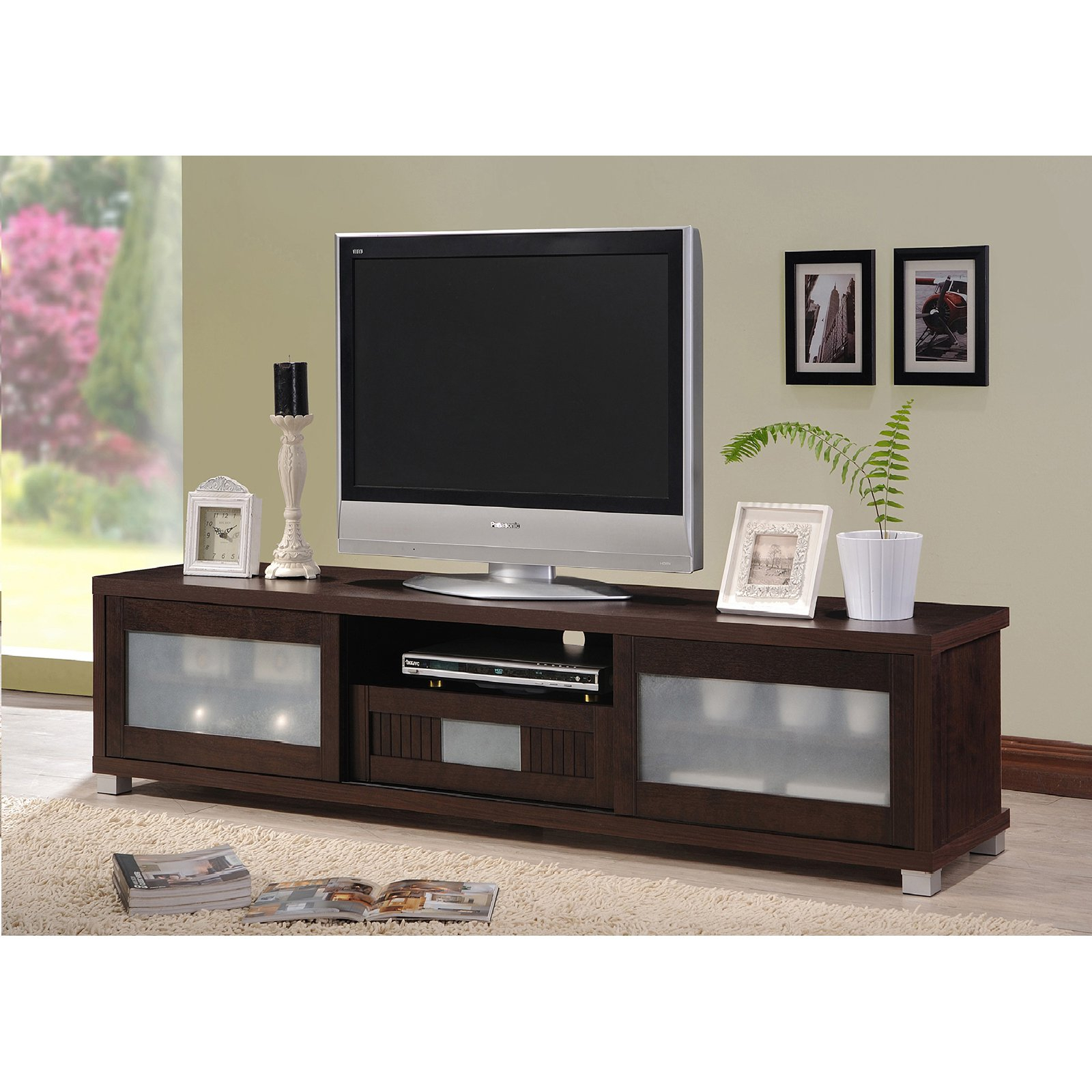 Baxton Studio Chairs Makayla Tv Stand Replacement Parts Customer Inside Dixon White 65 Inch Tv Stands (View 7 of 30)