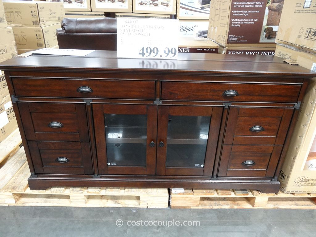 Bayside Furnishings Silverdale 65-Inch Tv Console Costco | Apartment with Oxford 60 Inch Tv Stands (Image 4 of 30)
