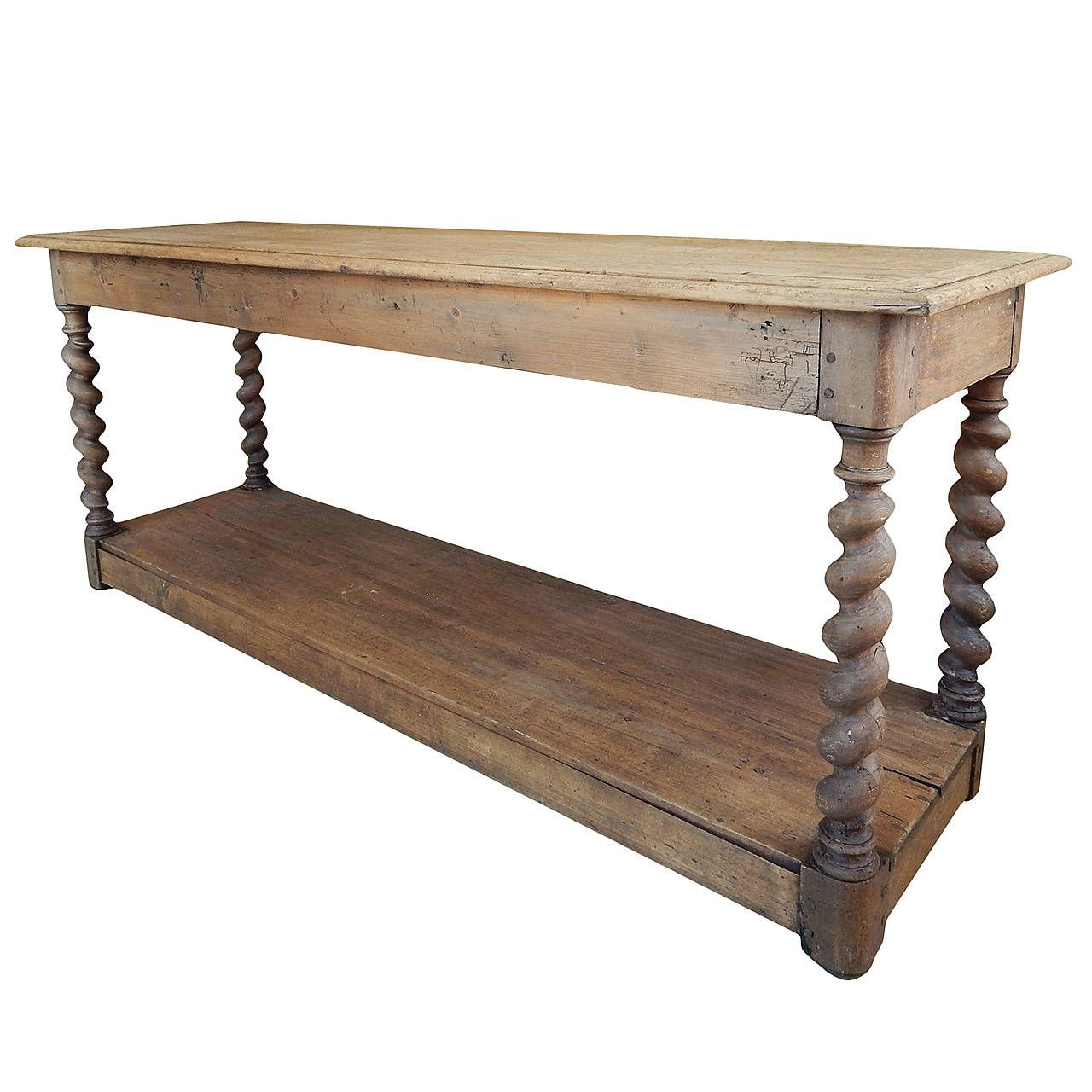 Belgian Barley Twist Drapers Table | Stuff To Buy | Pinterest Pertaining To Hand Carved White Wash Console Tables (View 9 of 30)