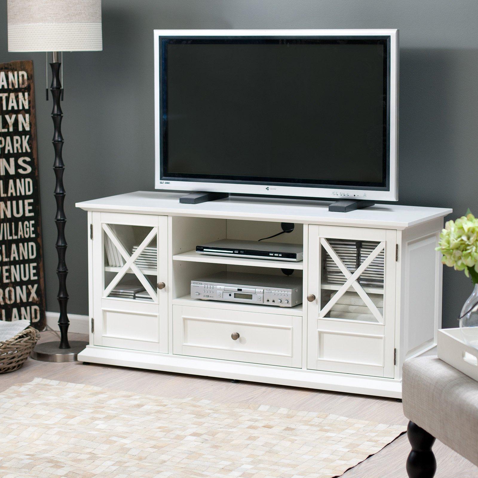 Belham Living Hampton Tv Stand - White - Walmart for Century White 60 Inch Tv Stands (Image 6 of 30)
