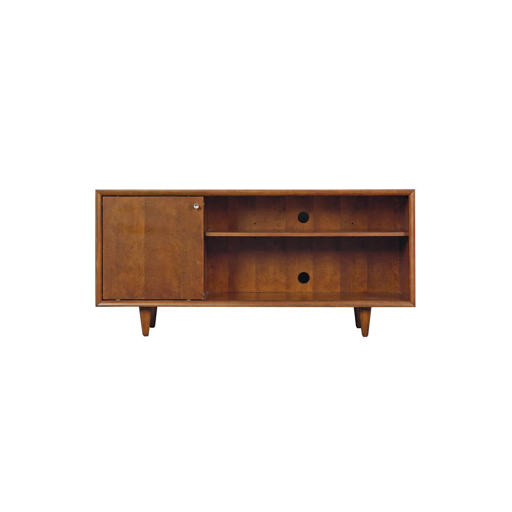 Bell'o Fairgrove Tv Stand For Tv's Up To 60 In. In Mahogany Cherry for Oxford 60 Inch Tv Stands (Image 6 of 30)