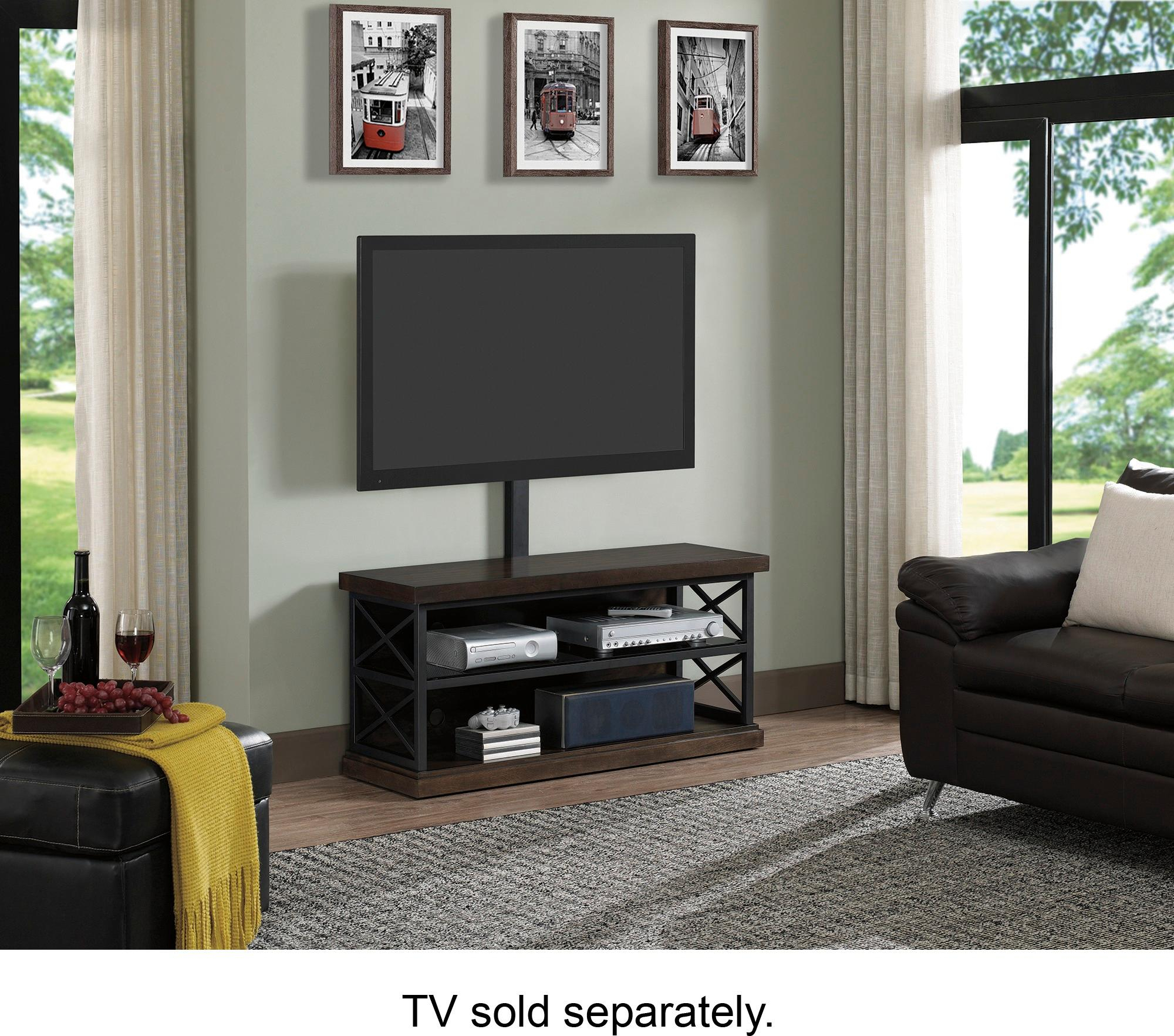 """Best Buy: Bell'o Triple Play Tv Stand For Most Tvs Up To 55"""" Brown with Abbot 60 Inch Tv Stands (Image 8 of 30)"""