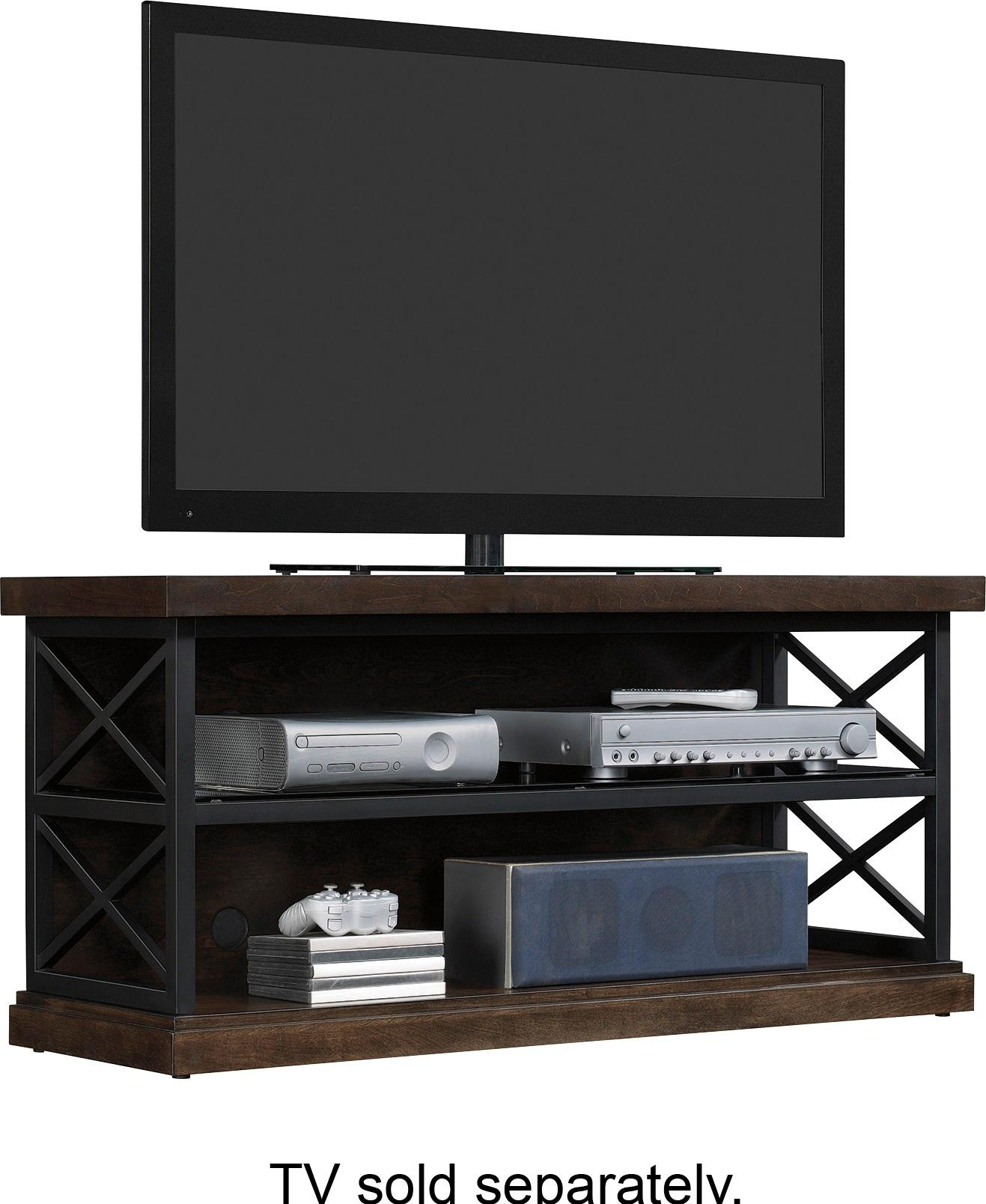 """Best Buy: Bell'o Triple Play Tv Stand For Most Tvs Up To 55"""" Brown within Abbot 60 Inch Tv Stands (Image 10 of 30)"""