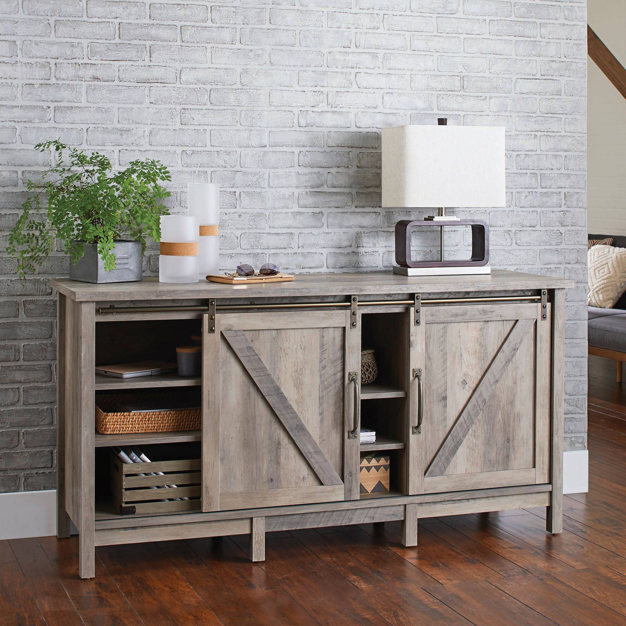 Better Homes And Gardens Modern Farmhouse Tv Stand For Tvs Up To 60 inside Willa 80 Inch Tv Stands (Image 6 of 30)