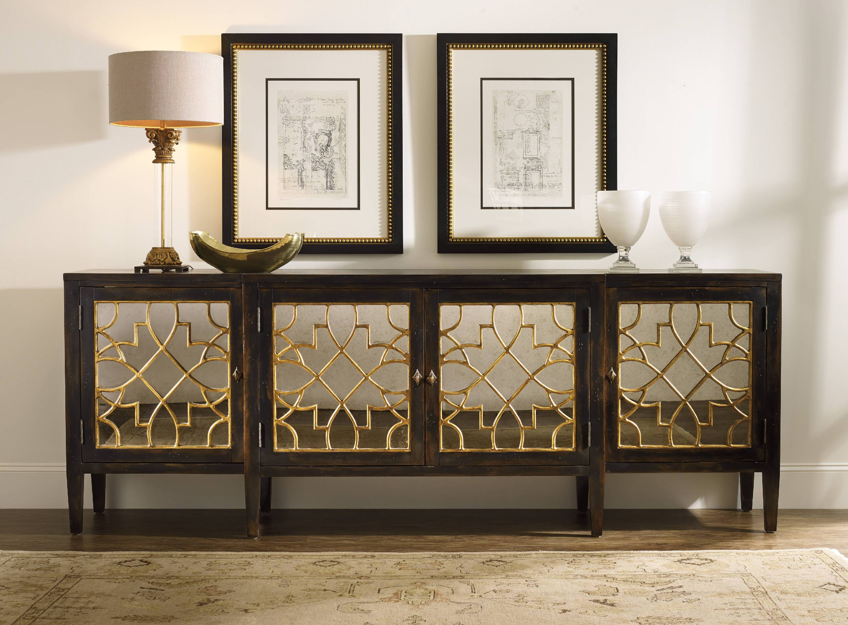Between Wood And Glass Long Console Tables | Homesfeed in Natural Wood Mirrored Media Console Tables (Image 4 of 30)