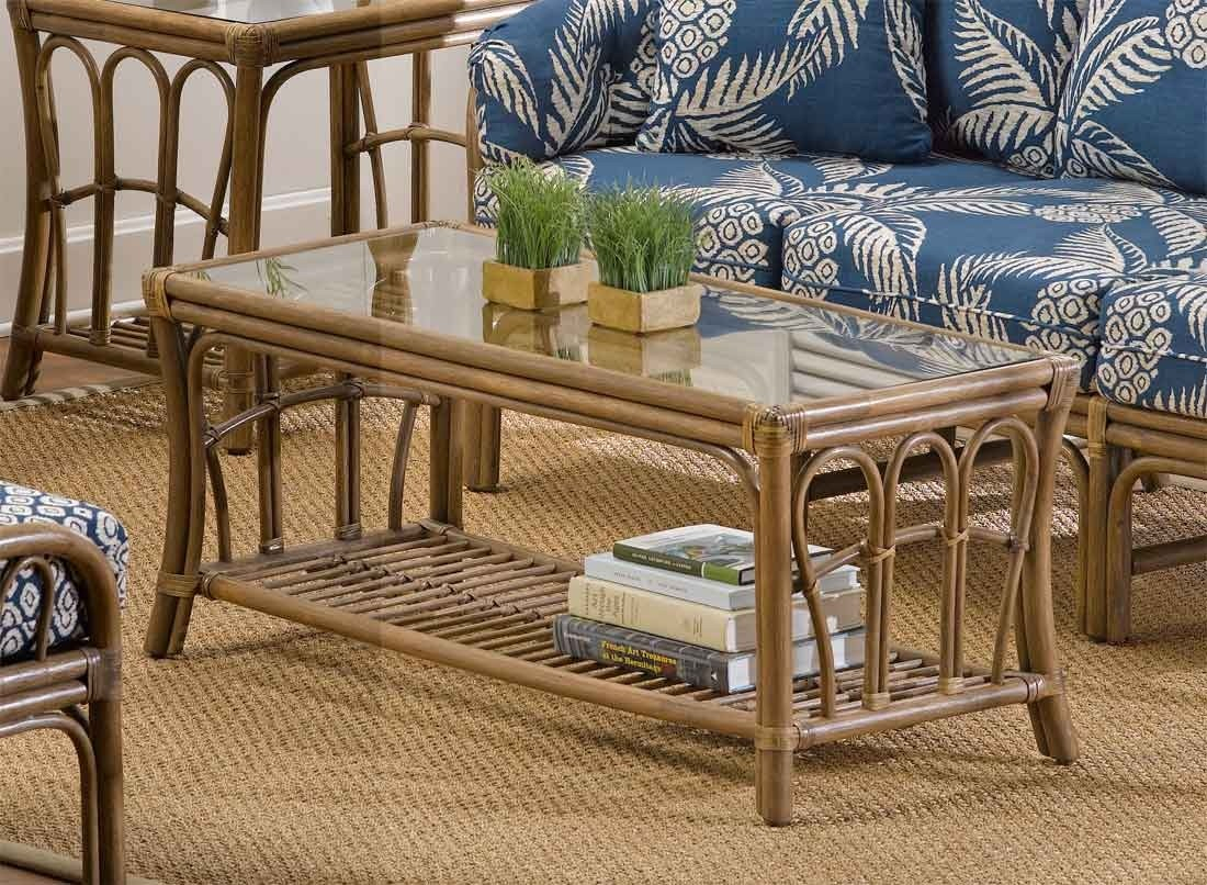 Bimini Natural Rattan Rectangular Cocktail Table throughout Natural Cane Media Console Tables (Image 7 of 30)