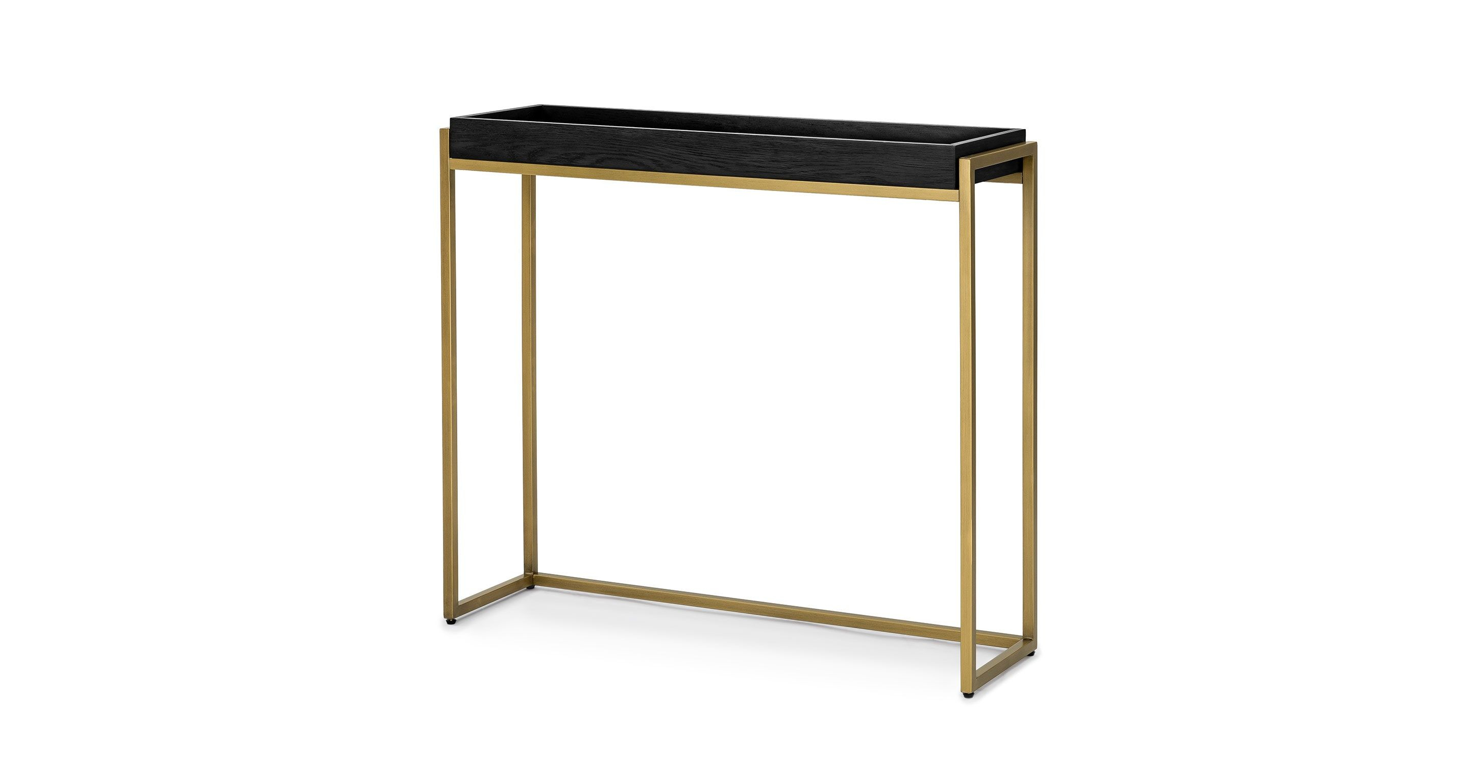 Black Console Table, Brass Legs | Article Oscuro Modern Furniture For Remi Console Tables (View 4 of 30)