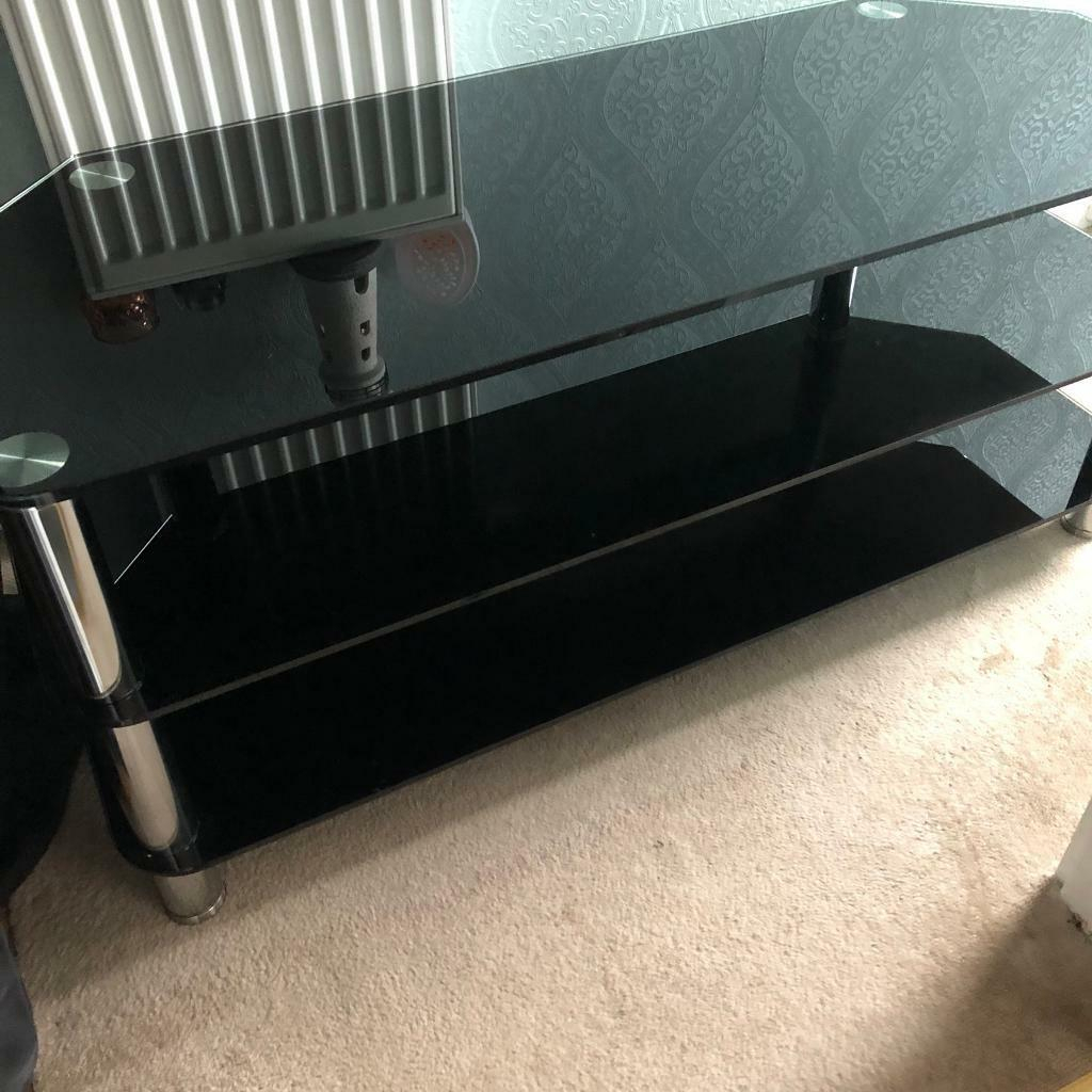 Black Glass Tv Unit | In Mayfield, Midlothian | Gumtree pertaining to Mayfield Plasma Console Tables (Image 4 of 30)