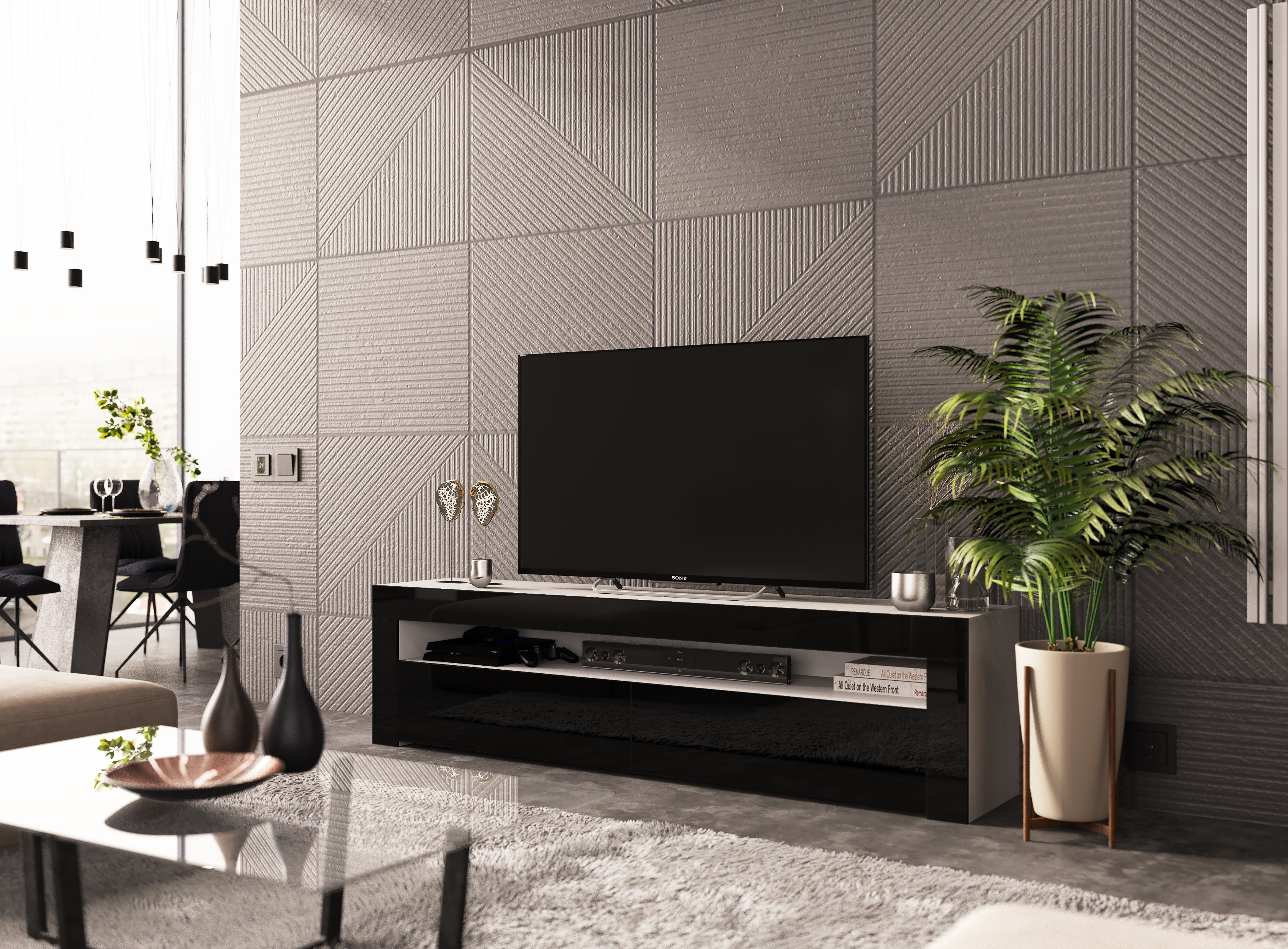Black Tv Stands & Entertainment Units You'll Love | Wayfair.co (View 20 of 30)