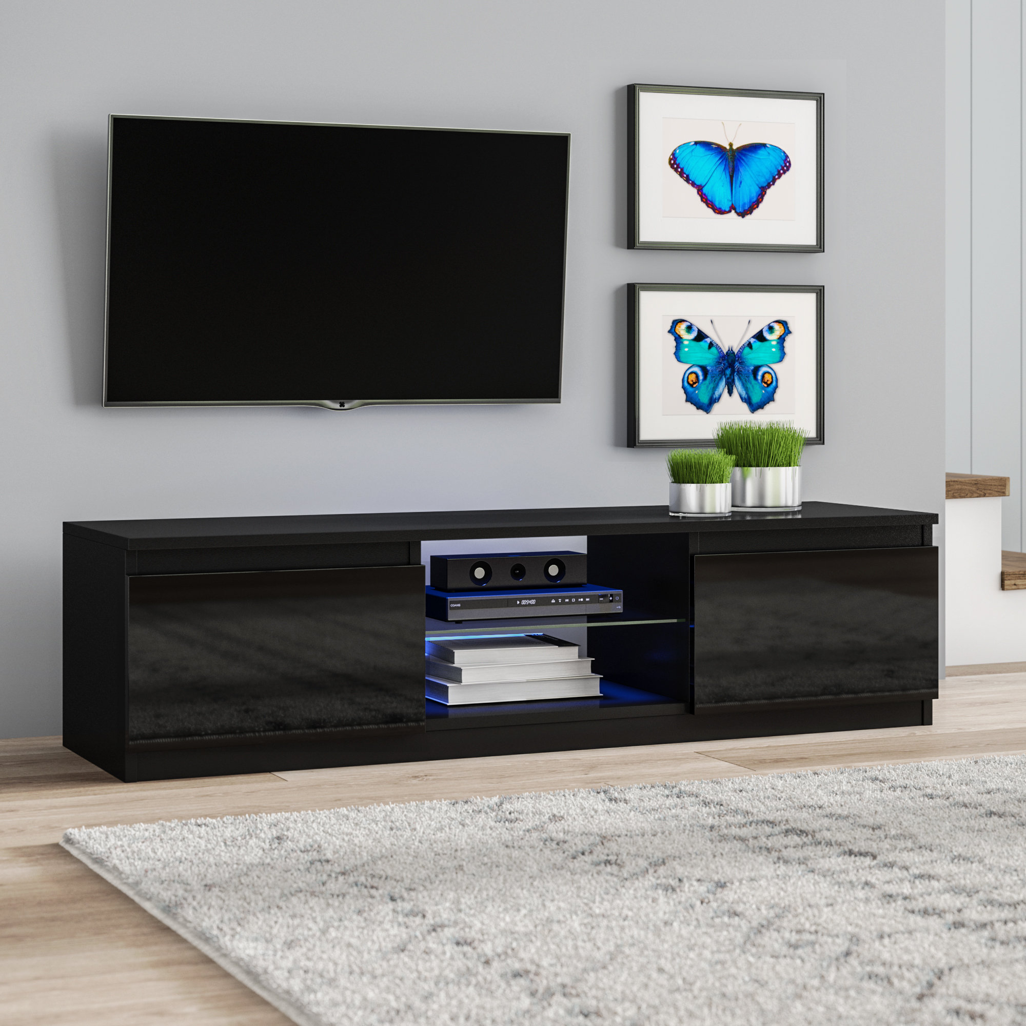 Black Tv Stands & Entertainment Units You'll Love | Wayfair.co (View 24 of 30)