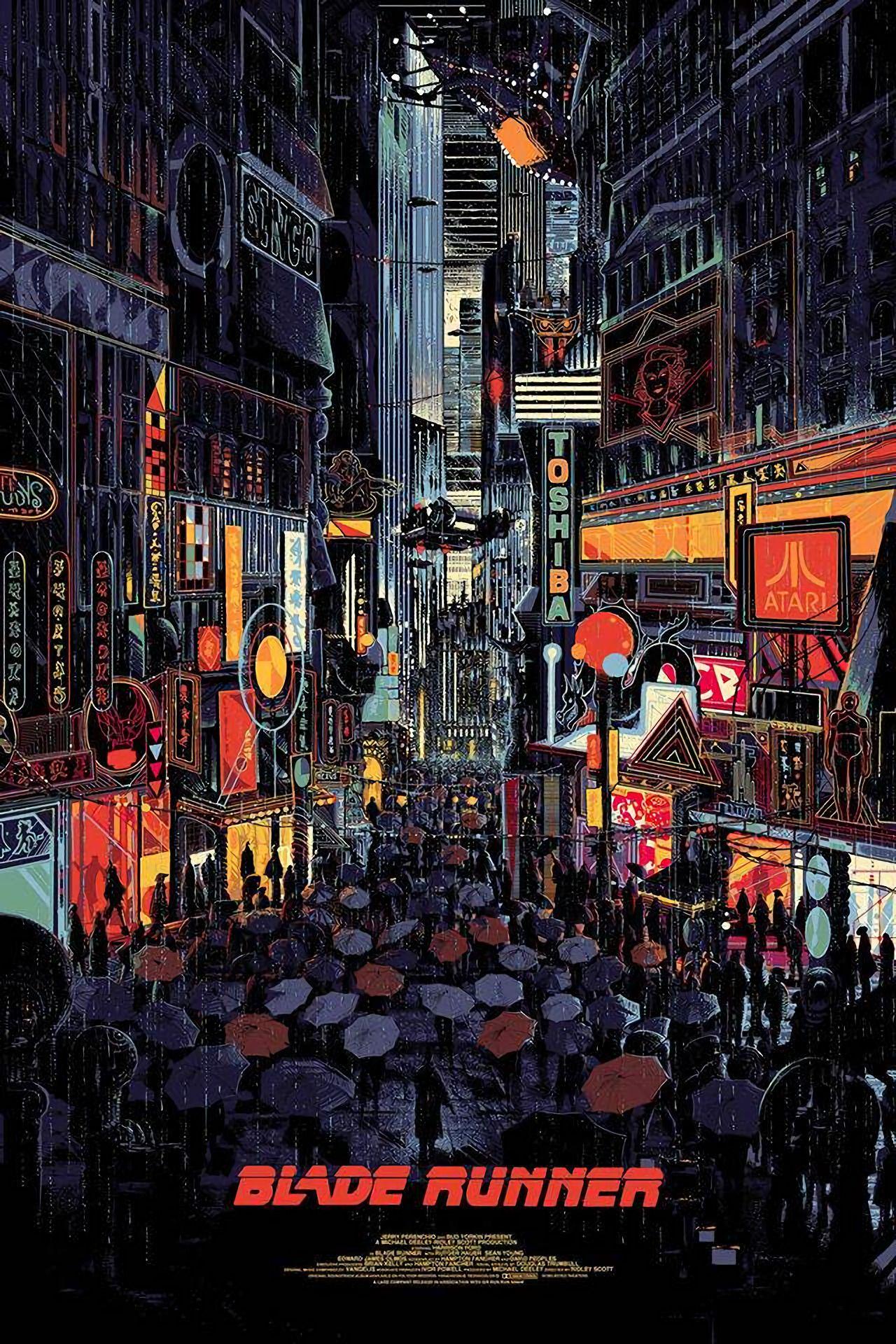Blade Runner Posters | Cınema | Blade Runner, Film Posters Ve Movie Throughout Kilian Black 60 Inch Tv Stands (View 20 of 30)